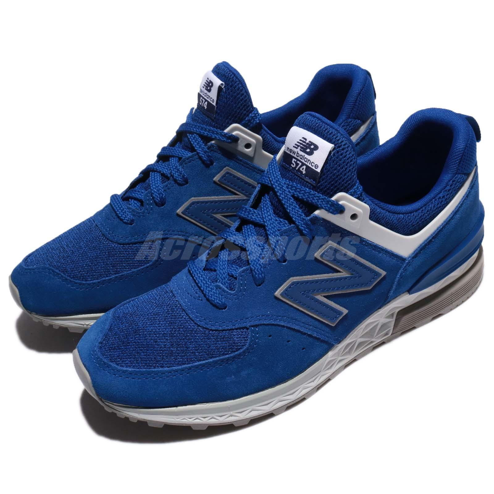 New Balance MS574CD D MS574 Suede Blue Grey Men Running Trainers ... e2d191446fa