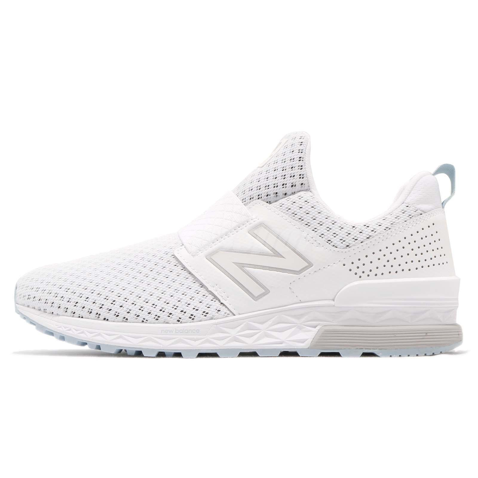 Details about New Balance MS574DSW D White Grey Men Running Slip On Shoes  Sneakers MS574DSWD