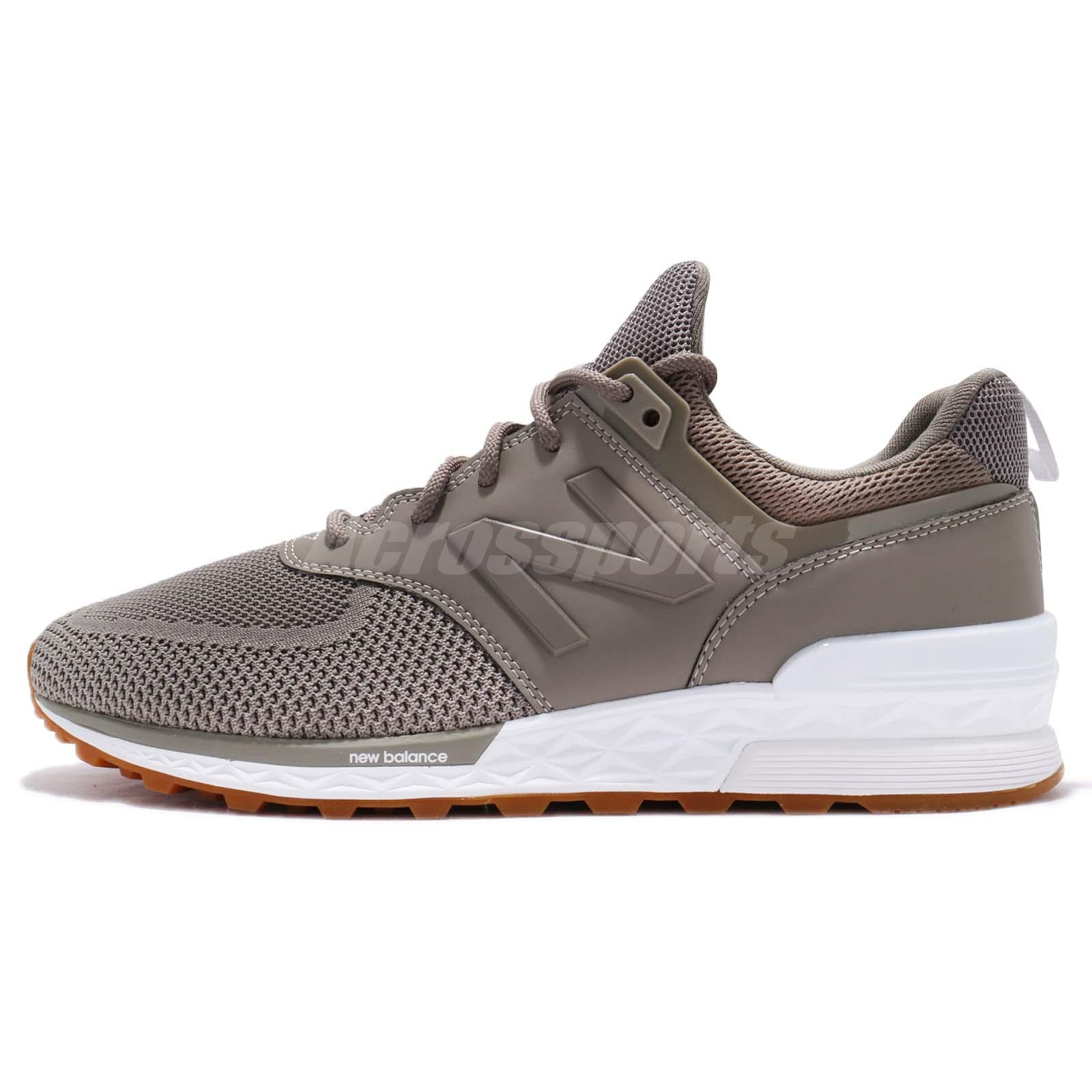 énorme réduction 6c418 f0e05 Details about New Balance MS574EMG D 574 Grey Tan White Men Running Shoes  Sneakers MS574EMGD