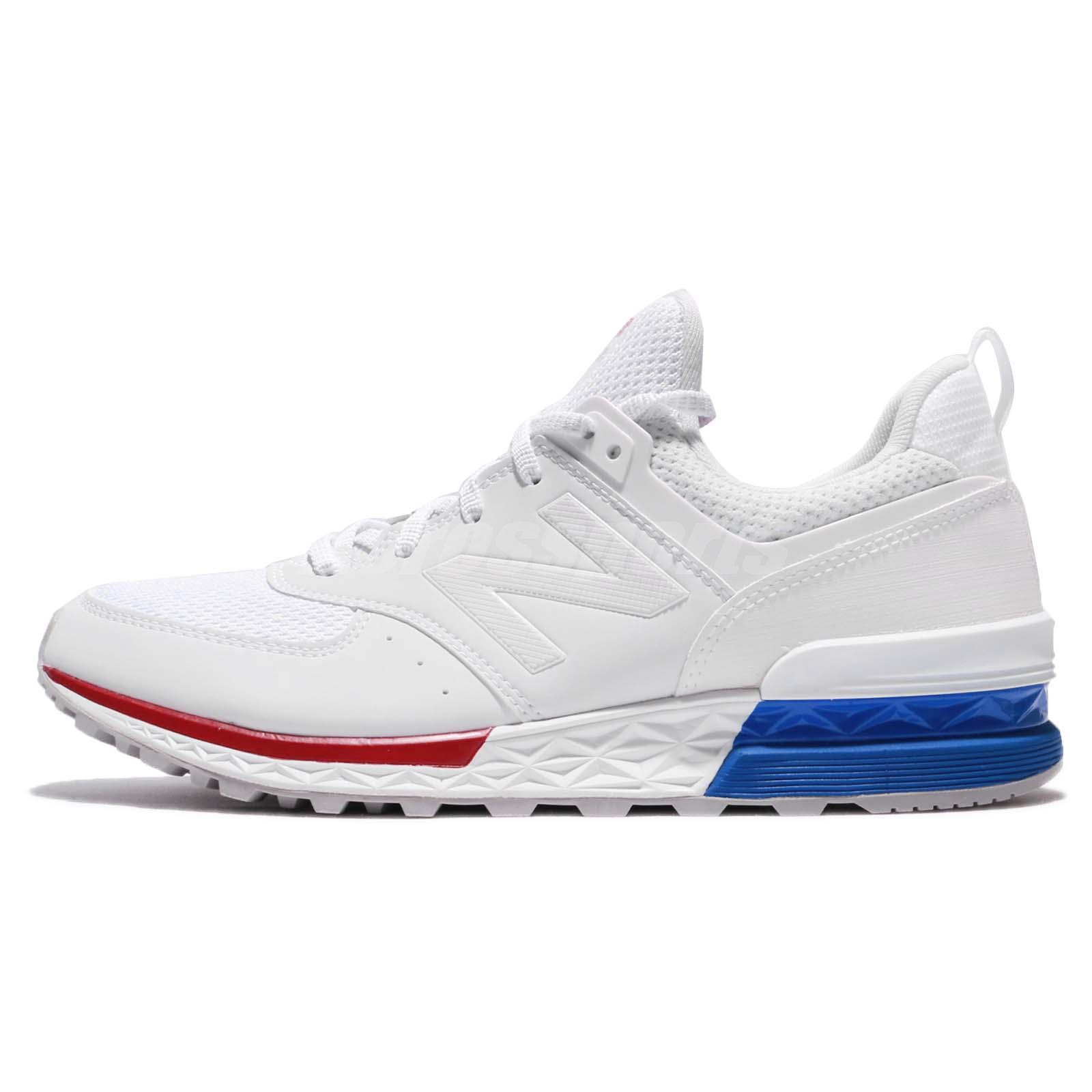 new balance 574 white and blue