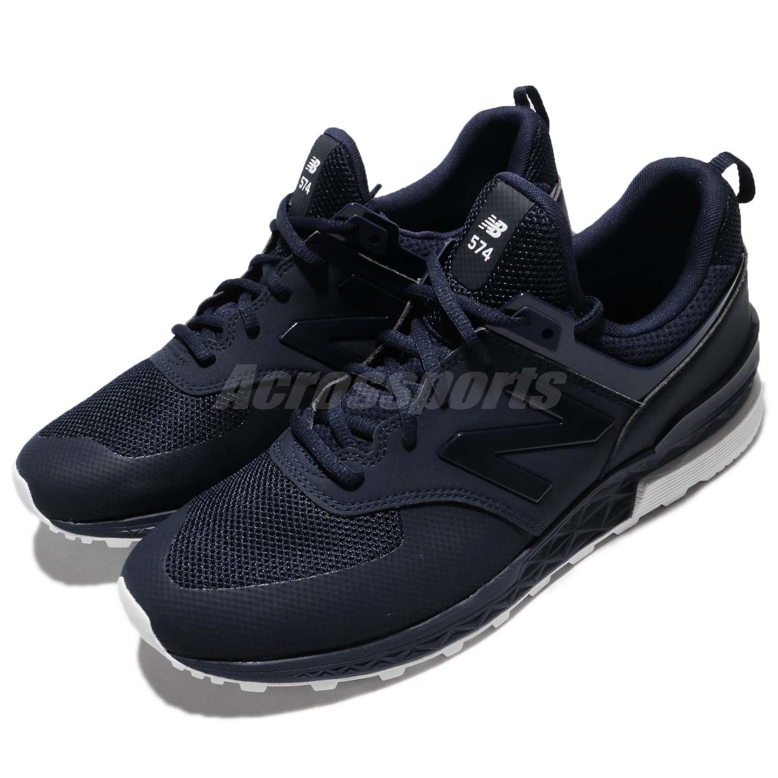 new style 5240b d5f21 Details about New Balance MS574SNV D 574 Navy White Blue Men Running Shoes  Sneakers MS574SNVD