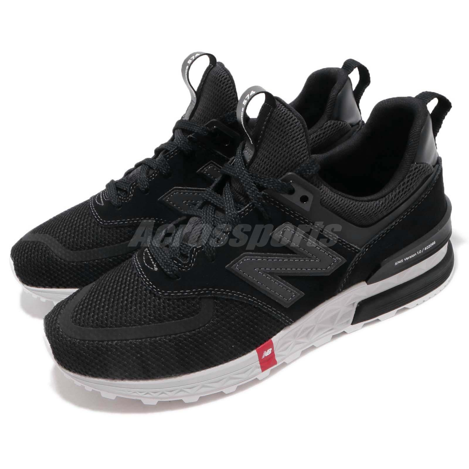 low cost 940ba c5787 Details about New Balance MS574UTB D Black Grey Red Men Running Shoes  Sneakers MS574UTBD