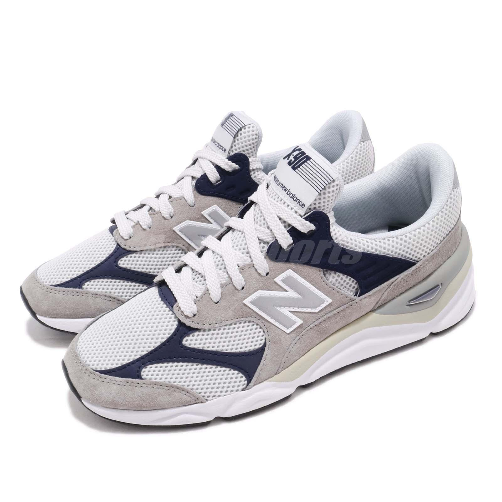 gray and blue new balance shoes