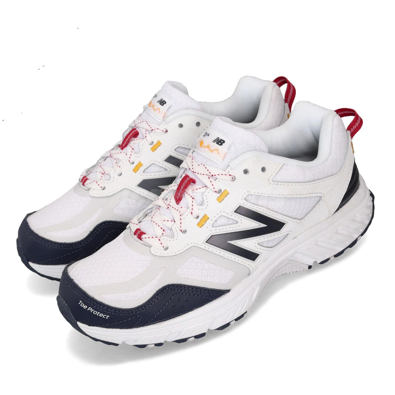 pas mal e6198 0c704 Details about New Balance MT510WB4 2E Wide White Navy Mens Trail Running  Shoes All Terrain 510