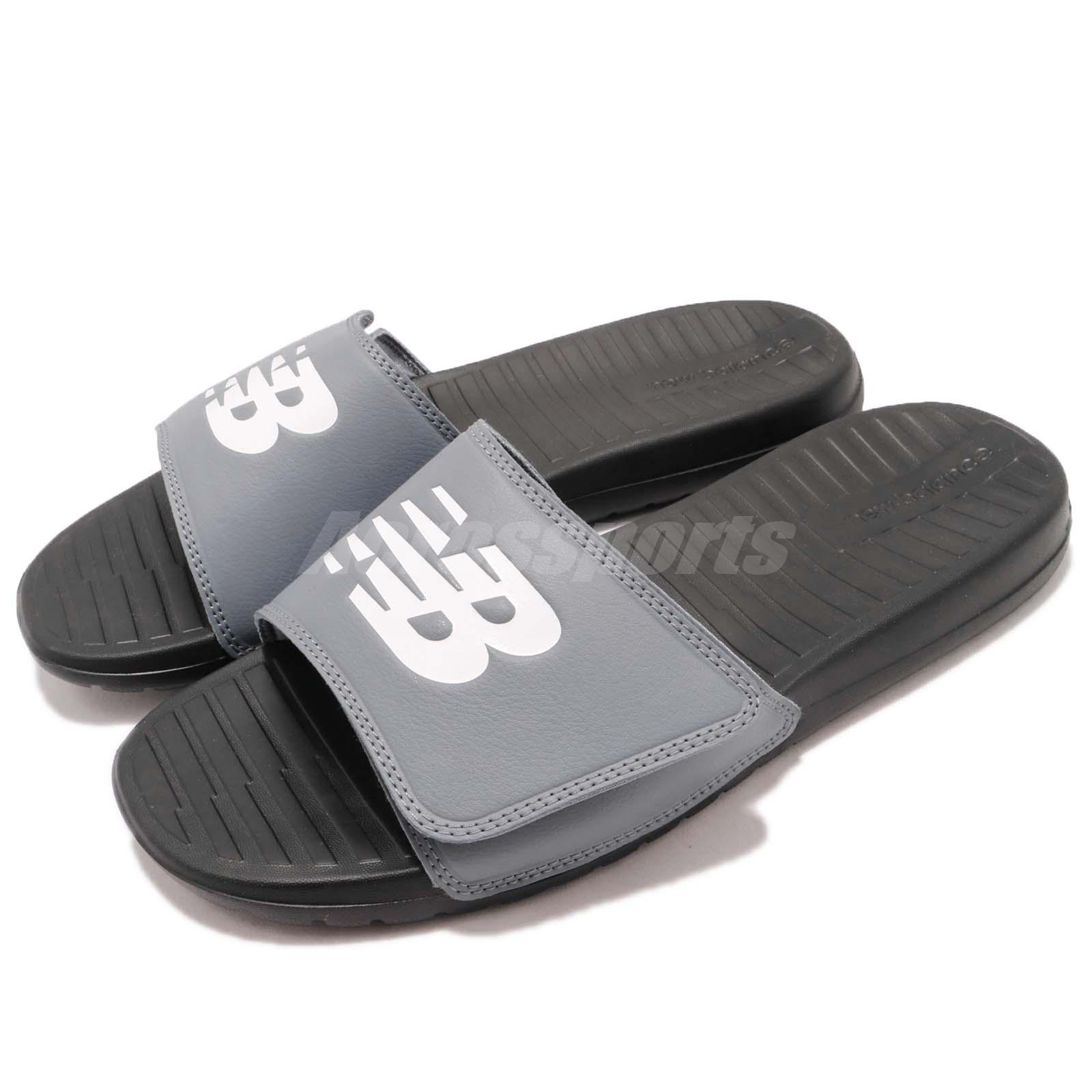 New Balance SD230GY D Grey Black Men Sports Sandal Slides Slippers SD230GYD