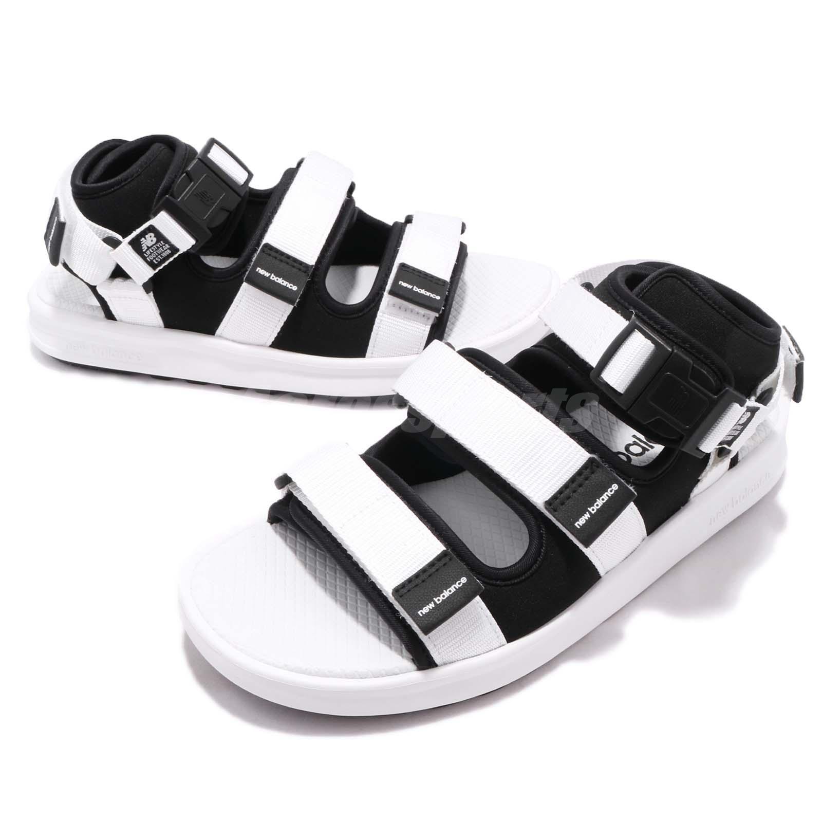 c4c719026c55af New Balance SD750BW D White Black One Click Men Women Sandal Shoes ...