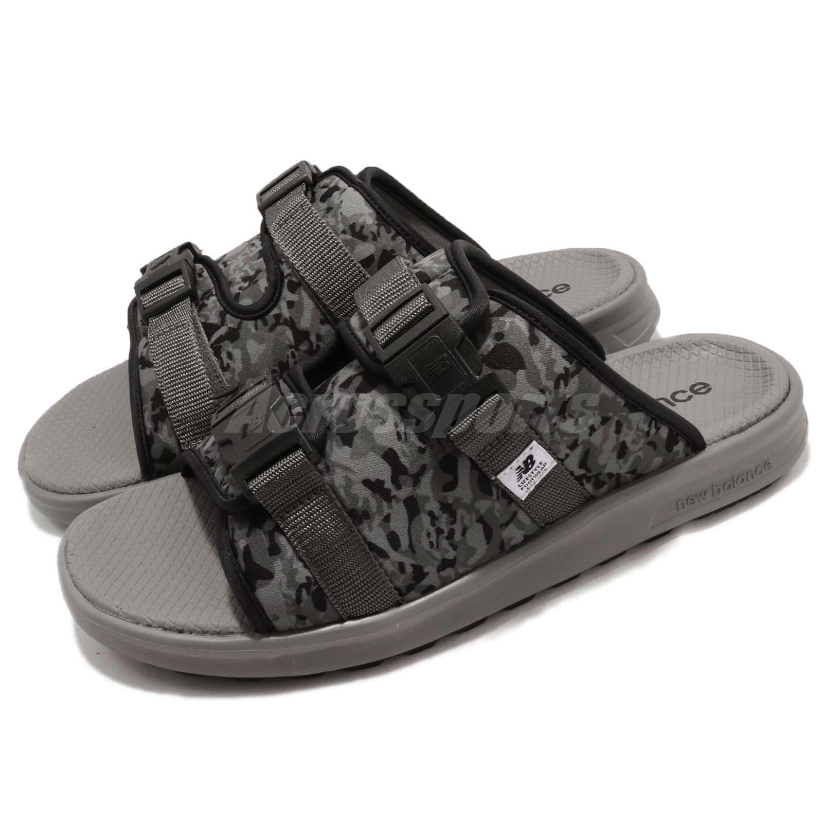 New Balance SDL330BA D Black Grey Camo Camouflage One Click Men Sandal SDL330BAD
