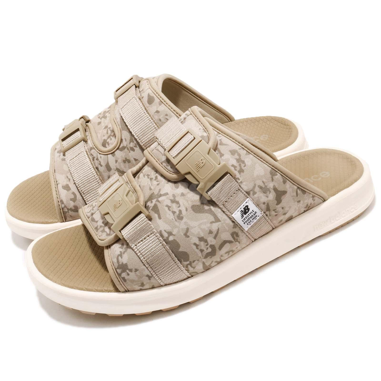 prix le plus bas c5b10 1935f Details about New Balance SDL330BE D Khaki Ivory Camouflage One Click Men  Sandals SDL330BED