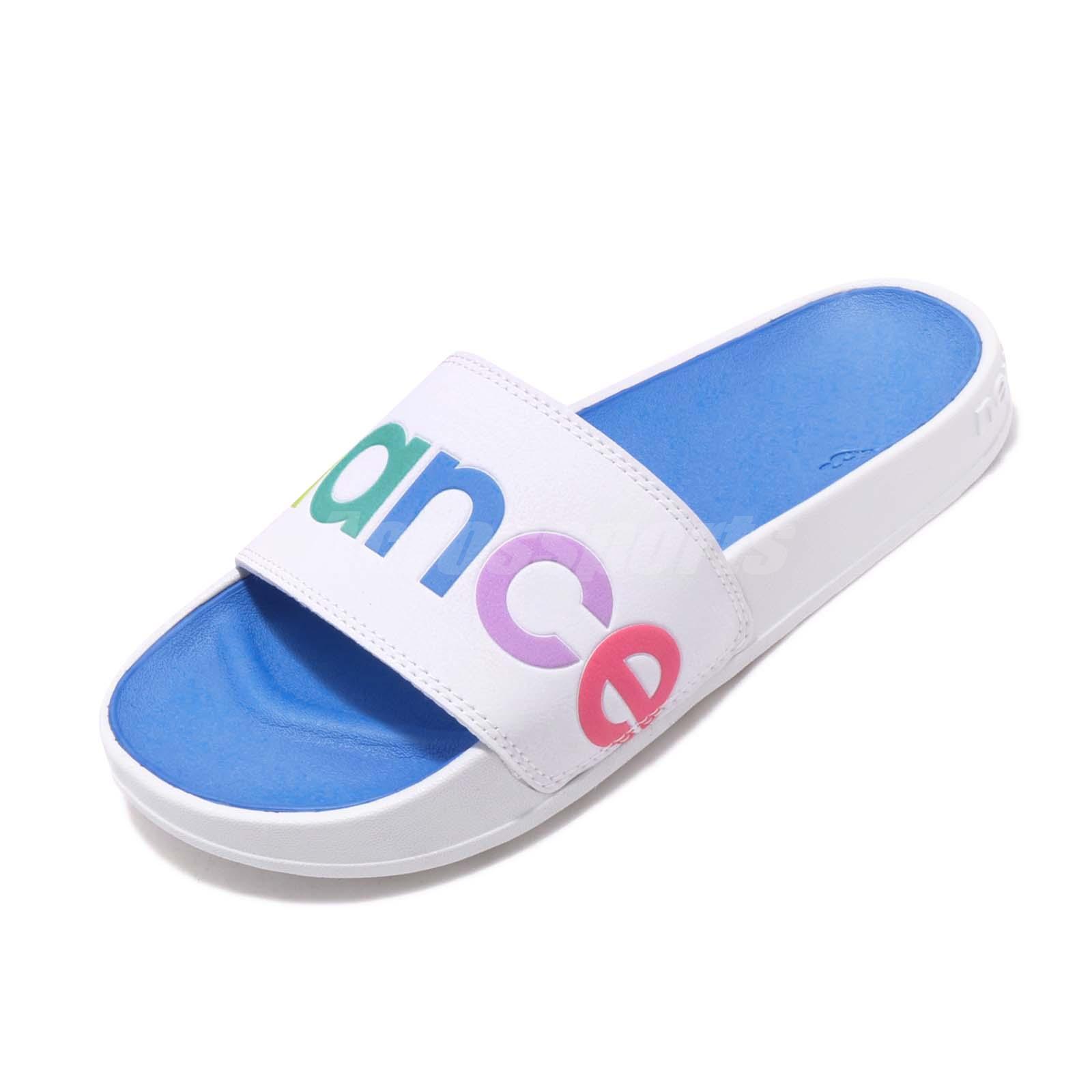 SWF200A1 New Balance Women/'s Sports Slide Sandal Blue-White Sliders />2-DAY SHIP