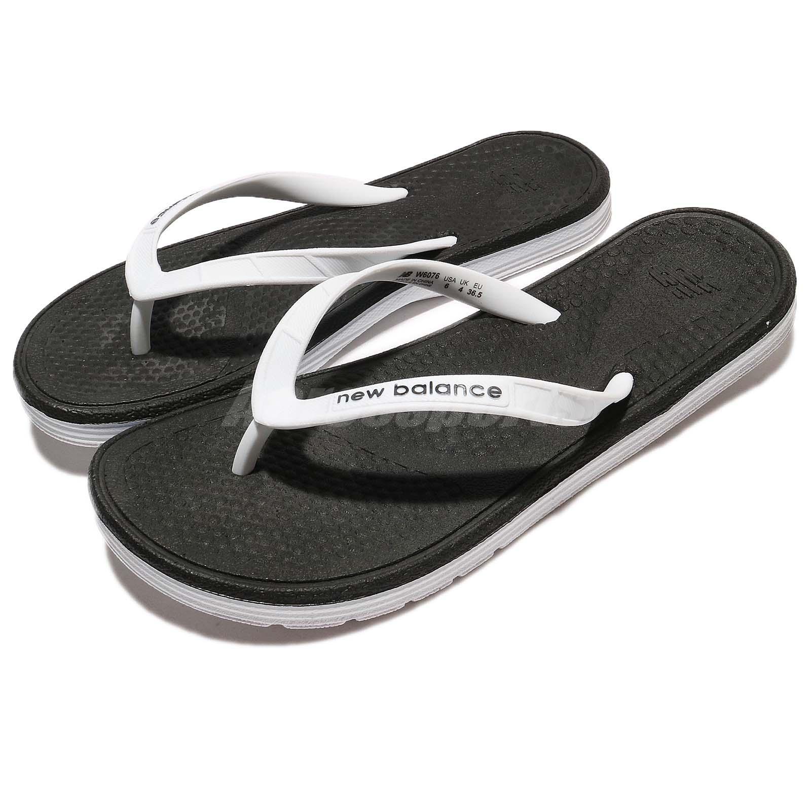 abda18d9c8214 Details about New Balance W6076WBK B White Black Women Sandal Thong  Flip-Flops W6076WBKB