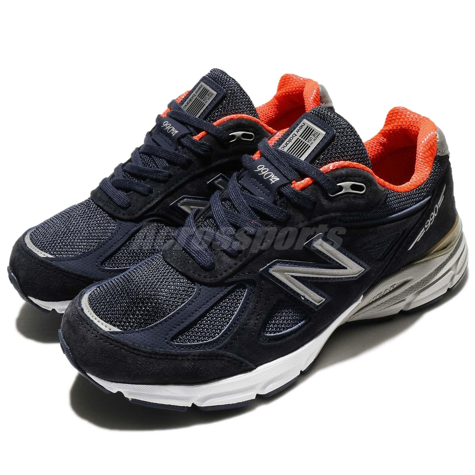 7503744defe11 Details about New Balance W990NV4 D Wide Blue White Made In USA Women  Running Shoes W990NV4D