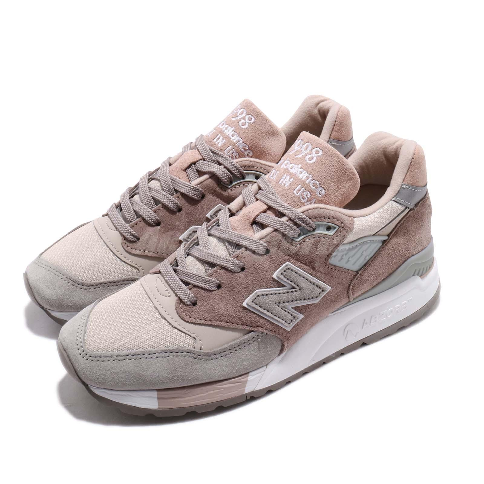 Details about New Balance W998AWA B Made In USA Pink Grey White Women Shoes Sneakers W998AWAB