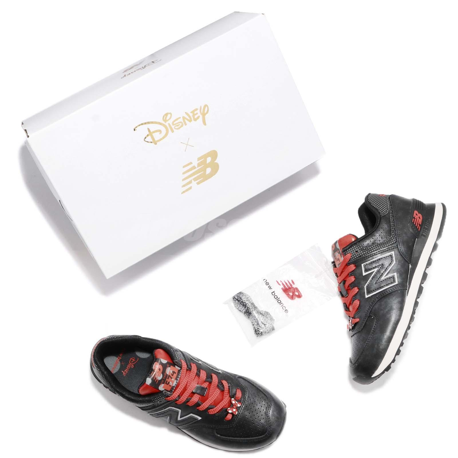 Disney x New Balance WL574DMM B Minnie Mouse Black Red Women Shoes WL574DMMB