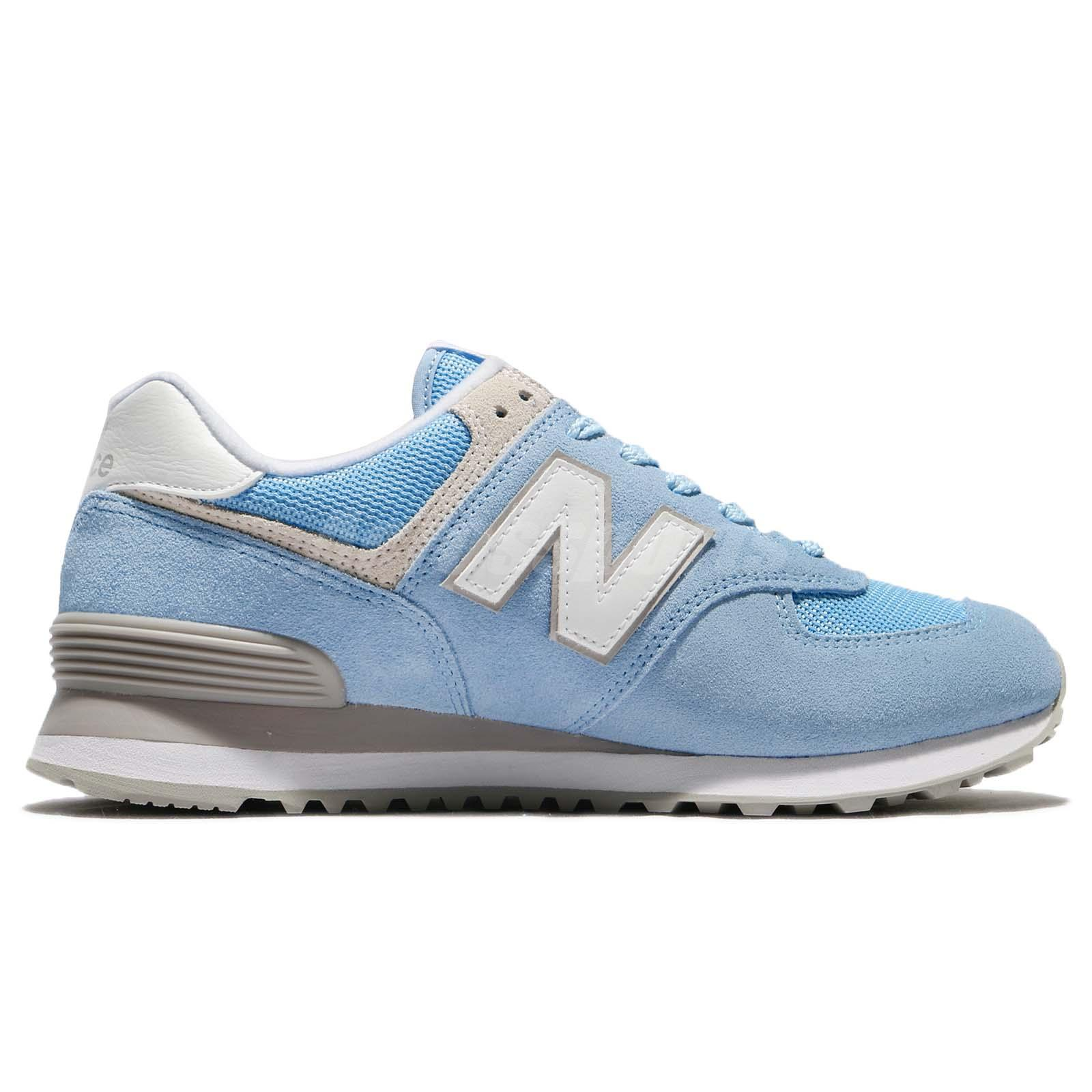 New Balance WL574ESB B 574 Blue White Women Running Shoes Sneakers ... 6664b839b31