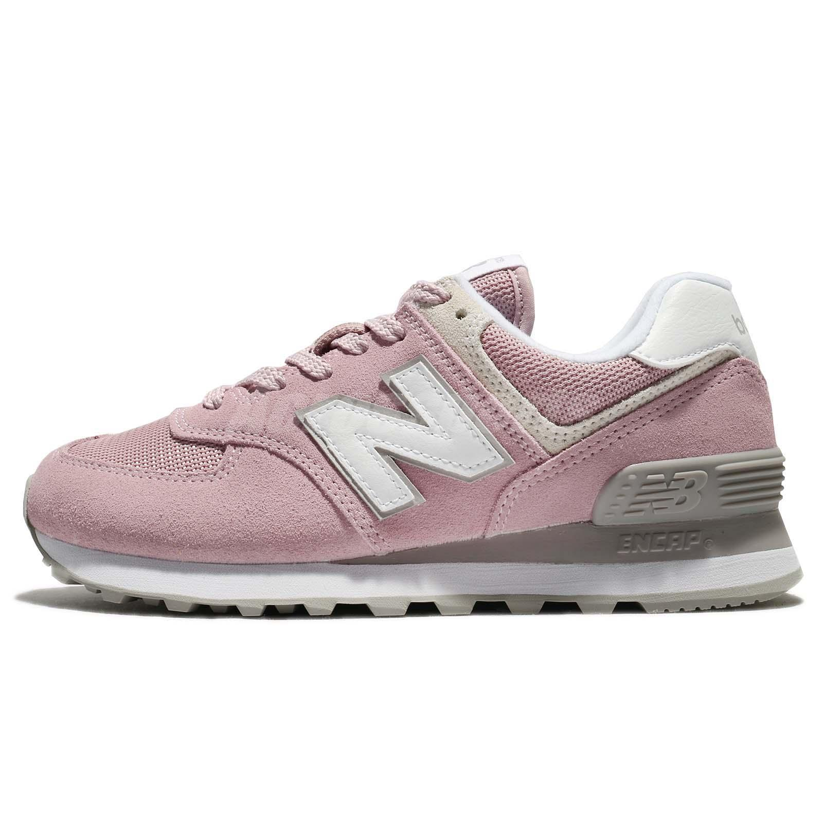 New Balance WL574ESP B 574 Pink White Women Running Shoes Sneakers WL574ESPB