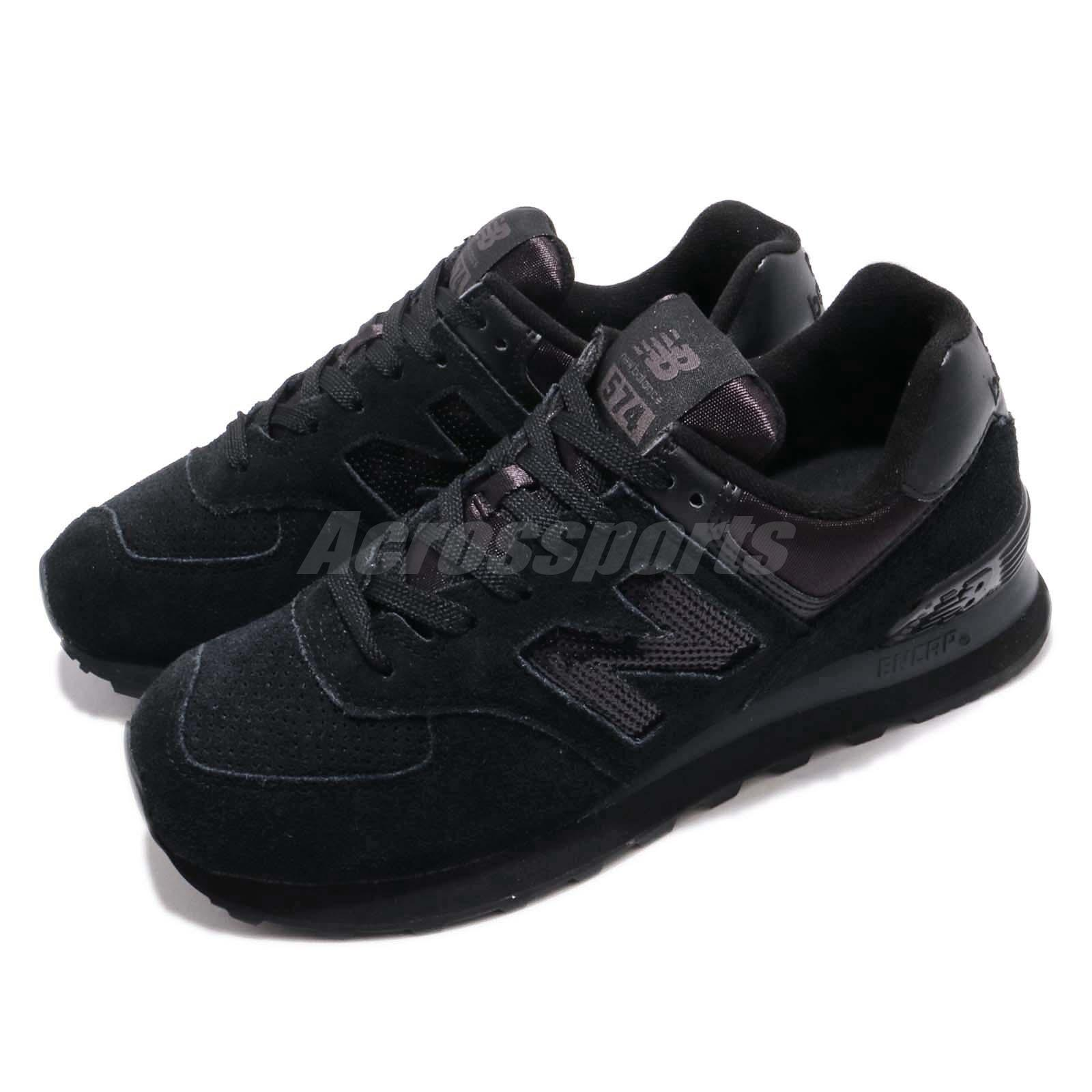 brand new c079f dc857 Details about New Balance WL574FHA B 574 Black Women Running Casual Shoes  Sneakers WL574FHAB