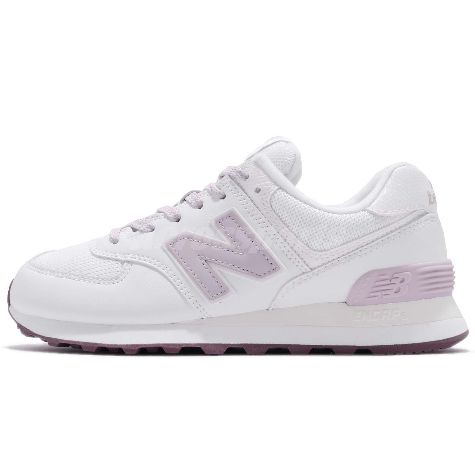 timeless design fb34a ec3ec New Balance WL574SF B 574 White Purple Women Running Shoes Sneakers WL574SFB