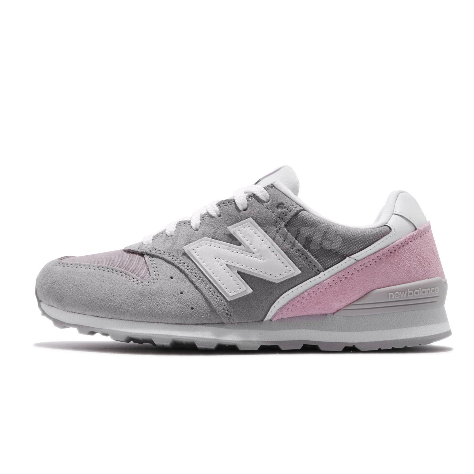 Details about New Balance WL996 D Wide Grey Suede Pink Womens Retro Running  Shoes NB WL996BCD