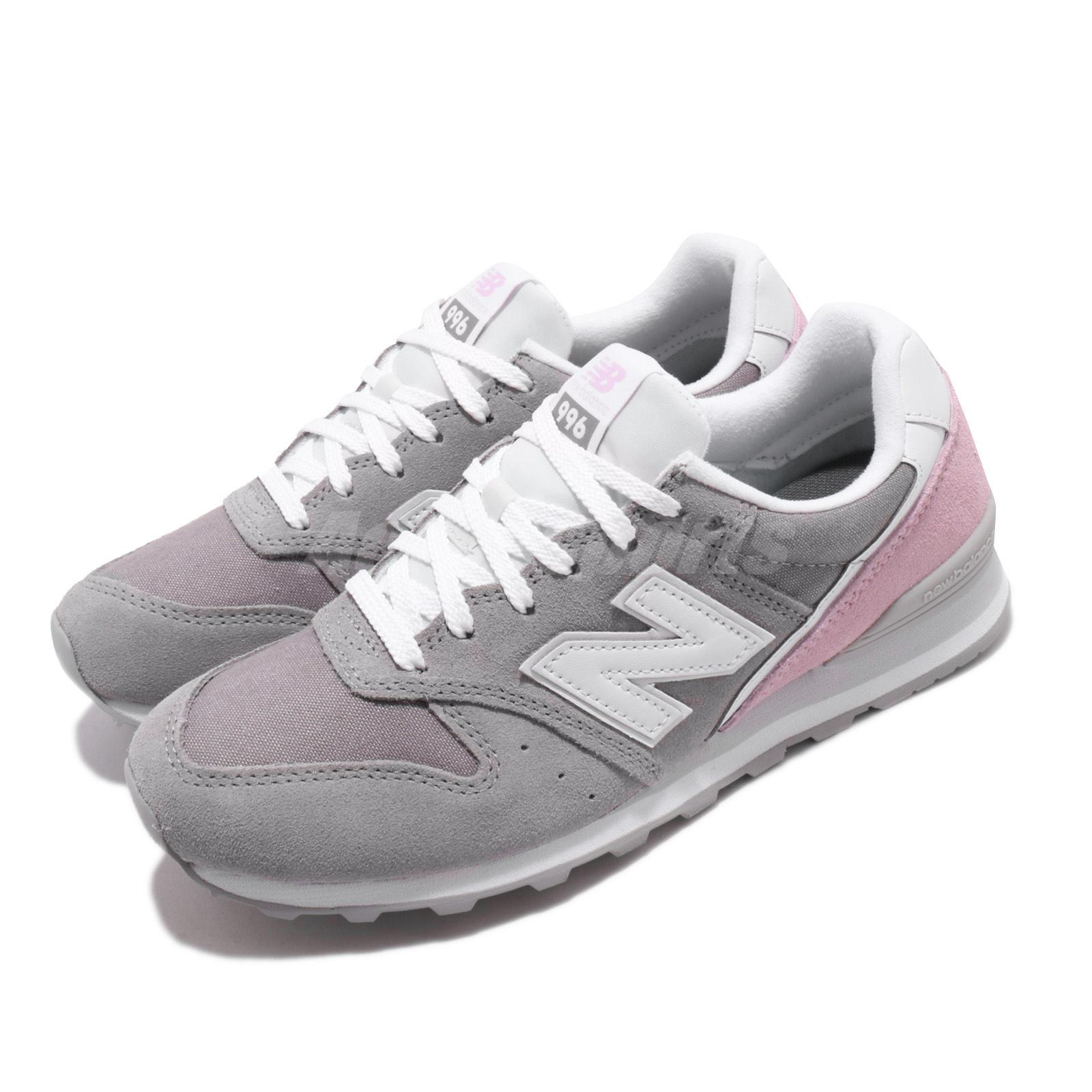 New Balance Wl996 D Wide Grey Suede Pink Womens Retro Running Shoes Nb Wl996bcd Ebay