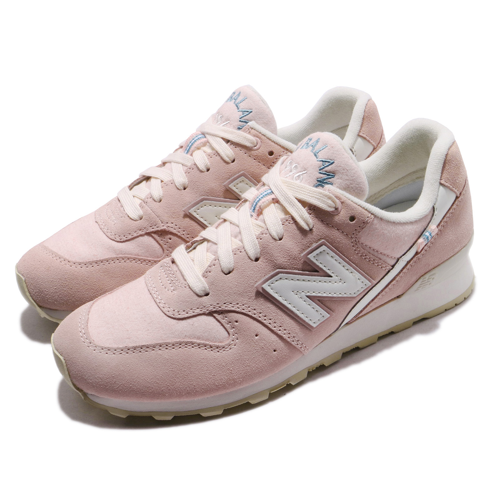 huge selection of 85a42 707f8 Details about New Balance WR996YD D Wide Pink White Women Running Shoes  Sneakers WR996YDD