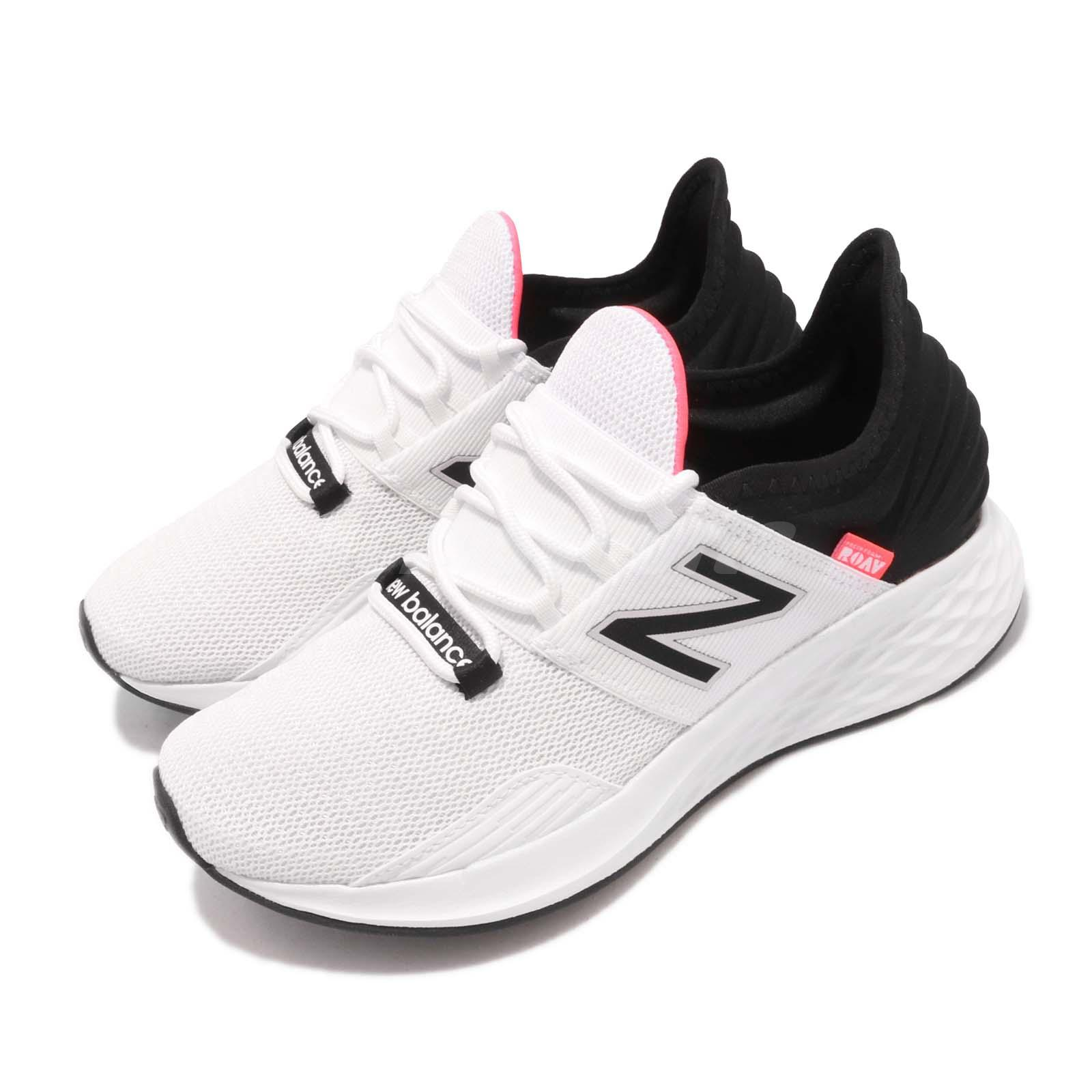 Details about New Balance Fresh Foam ROAV B White Black Pink Womens Running  Shoes WROAVLW B