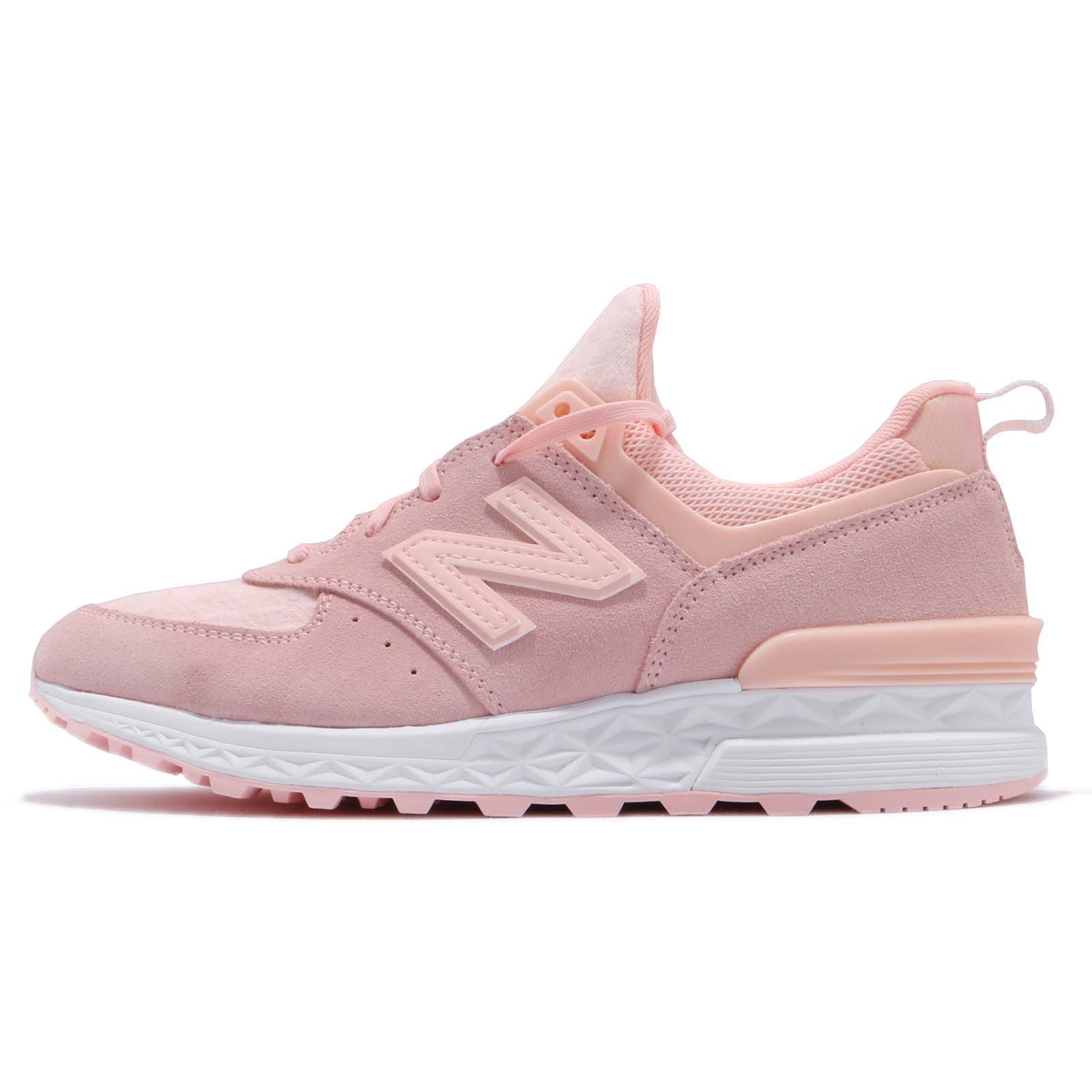 New Balance WS574SNCB Suede Pink White Women Running Shoes Sneakers WS574SNCB