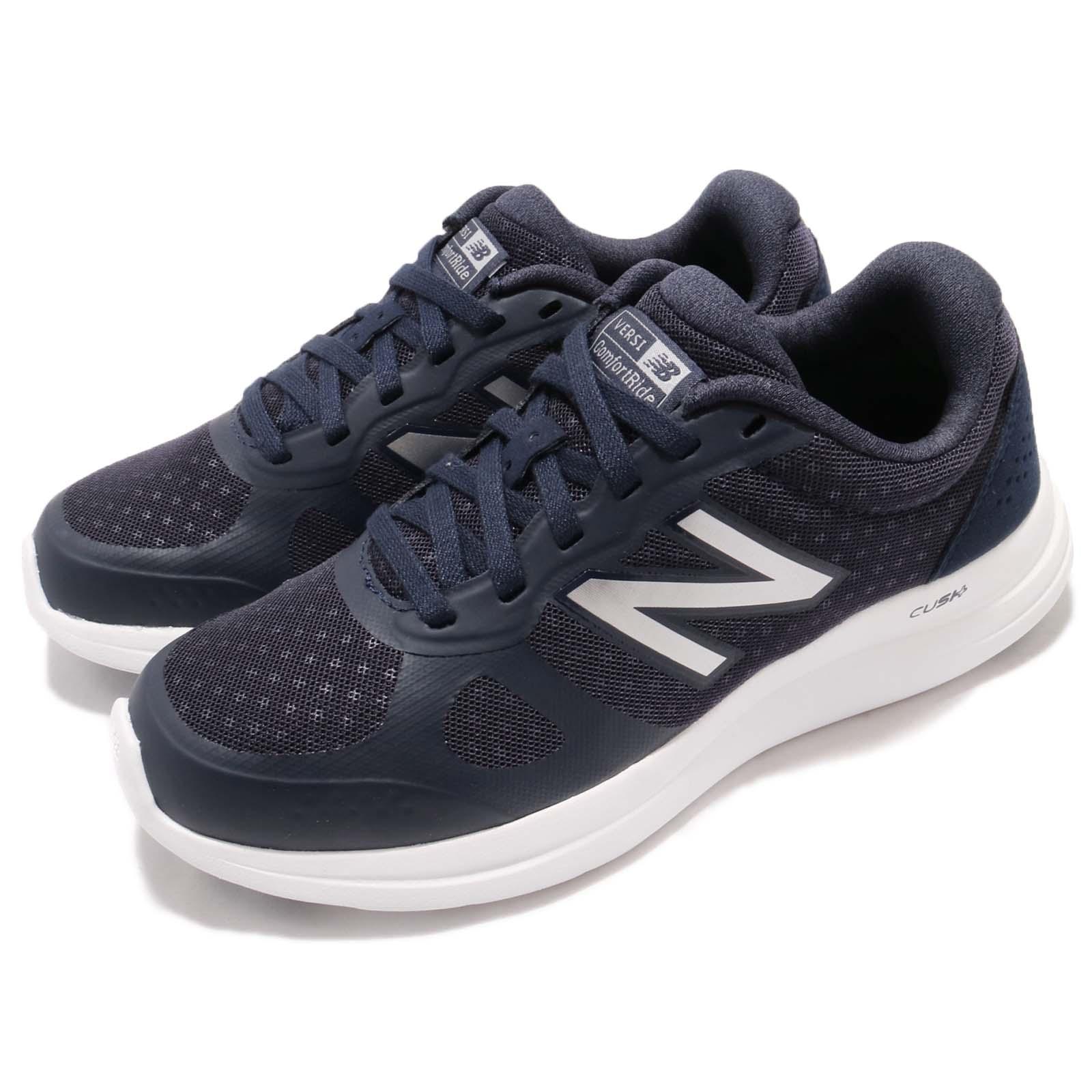 New Balance WVERSLJ1 D Wide Navy Silver Women Running Shoes Sneakers ... 82255ac4e15ca