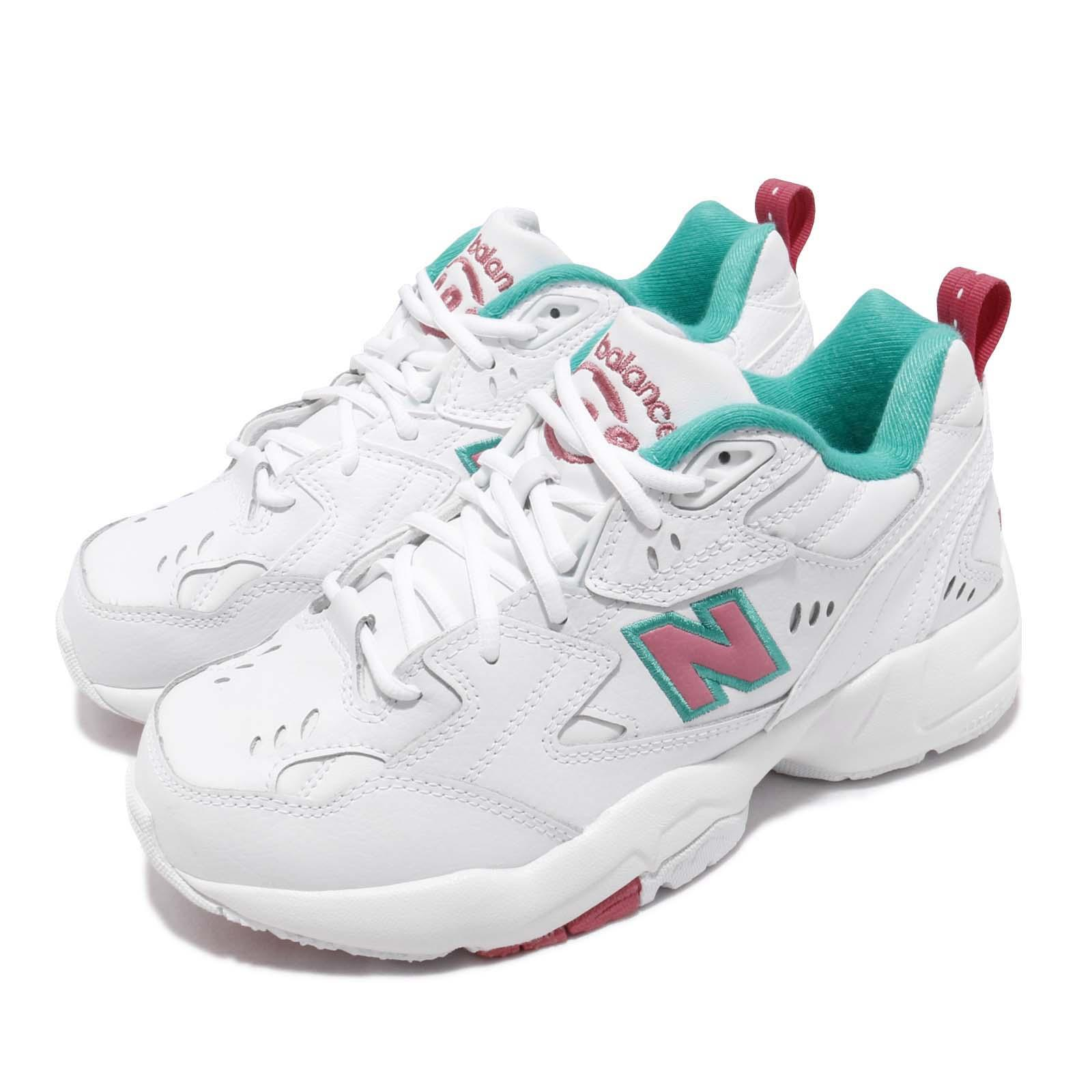 b69a01b4ccb6be Details about New Balance WX608WT1 D Wide White Pink Green Women Chunky  Daddy Shoes WX608WT1D