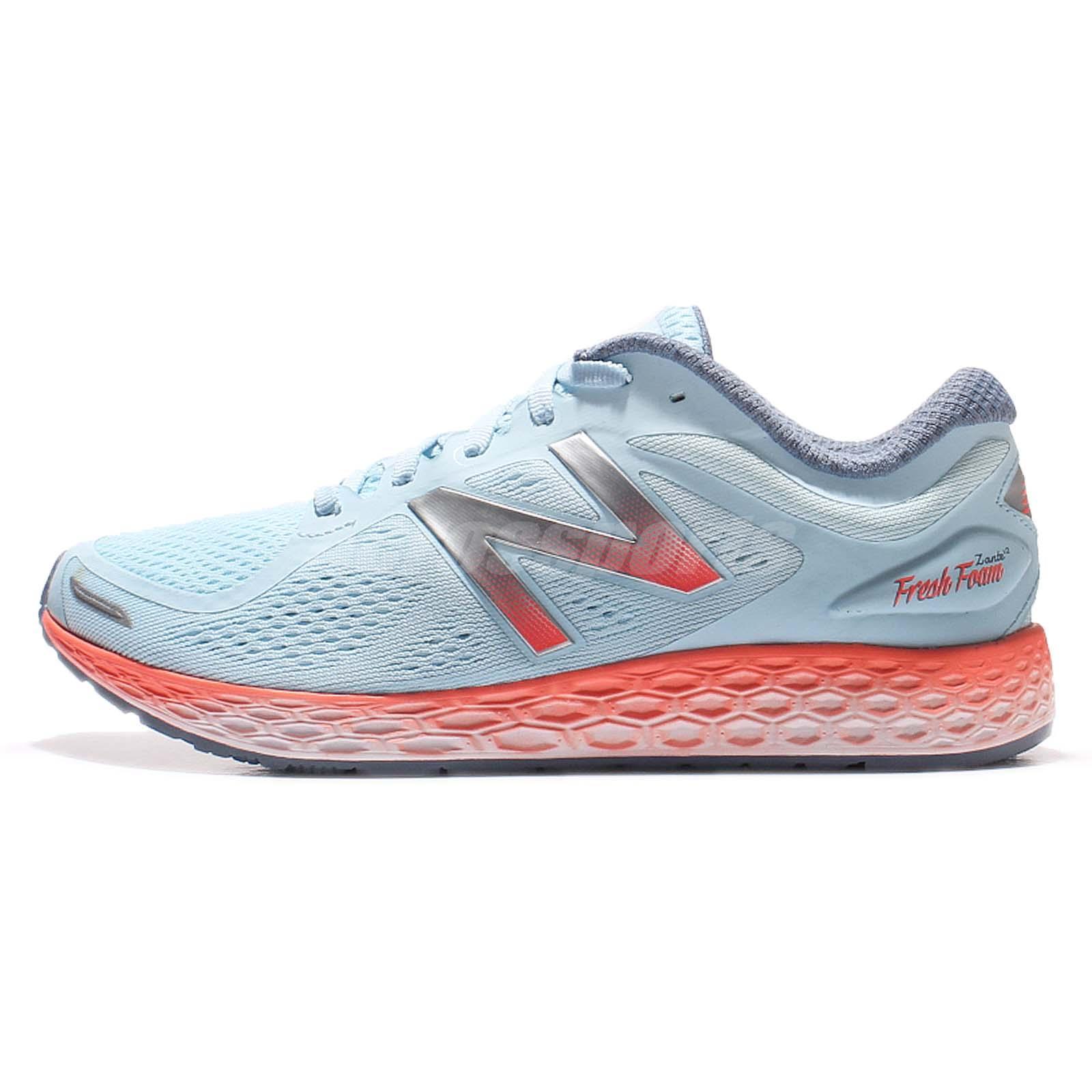 new balance zante womens. new balance wzantba2 d wide zante fresh foam blue orange women running wzantba2d womens
