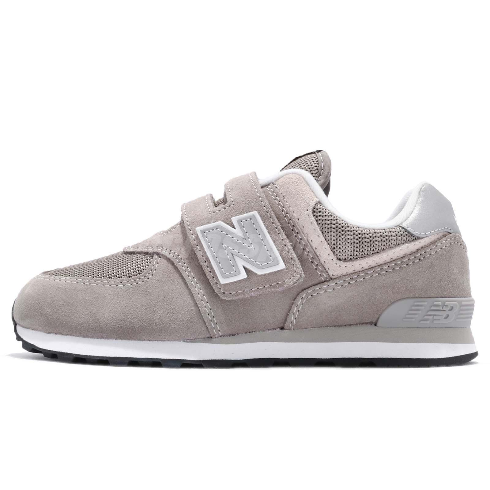 super popular 08f26 ec1c0 Details about New Balance YV574GG W Wide 574 Grey White Kids Youth Running  Shoes YV574GGW
