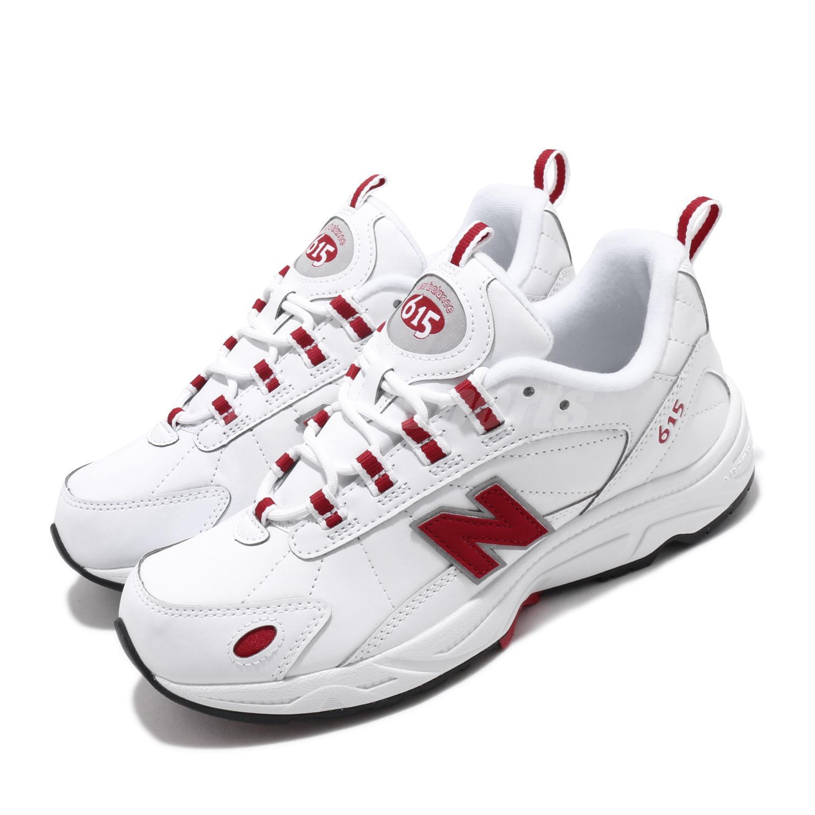 New Balance ML615NWR D White Red Grey