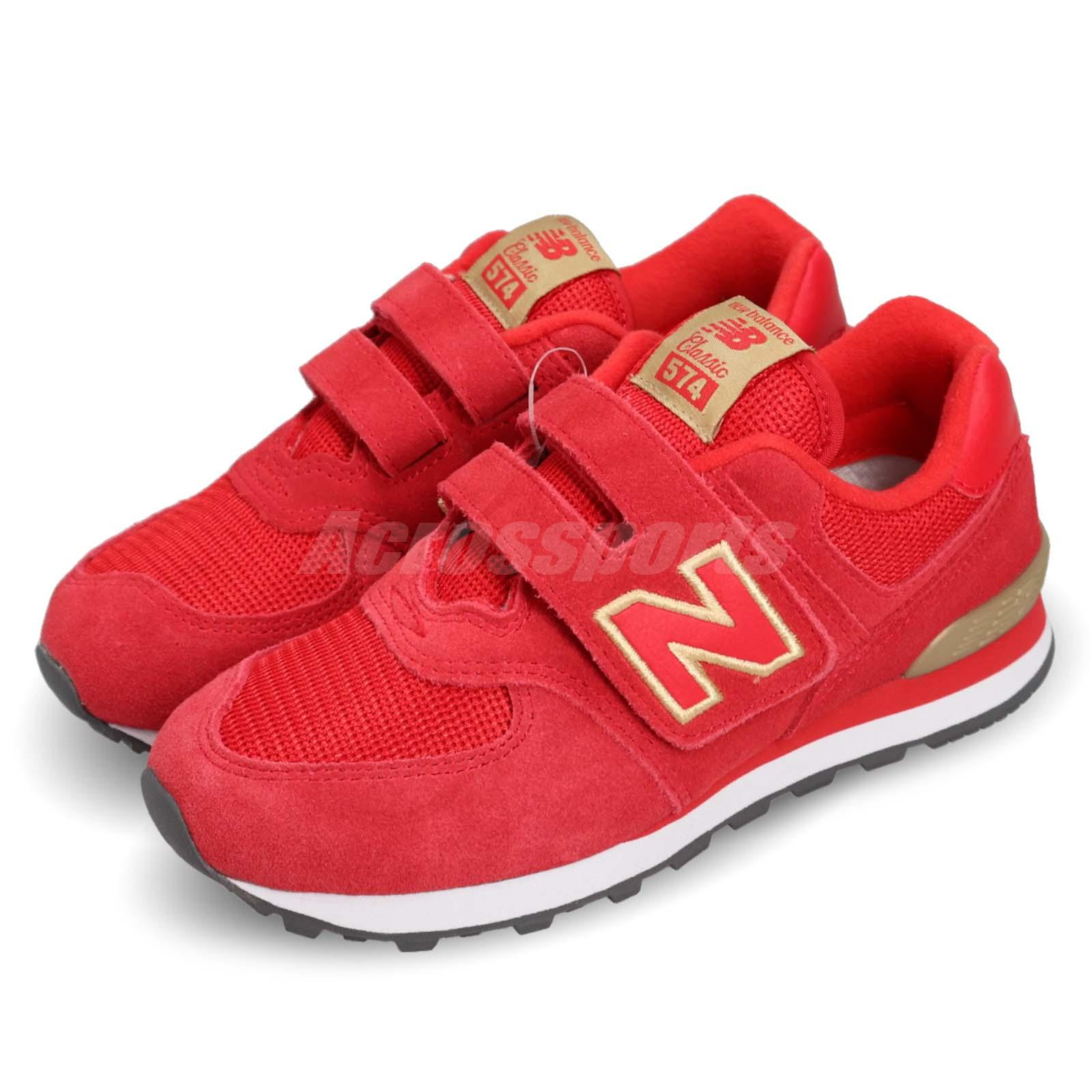 New Balance YV574RG W Wide Red Gold Kid