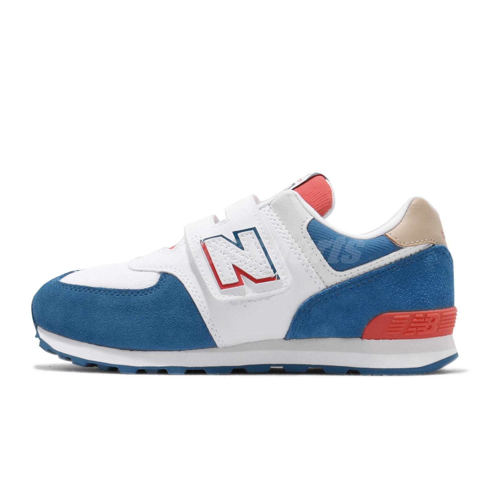 New Balance 574 Wide White Blue Red Kid