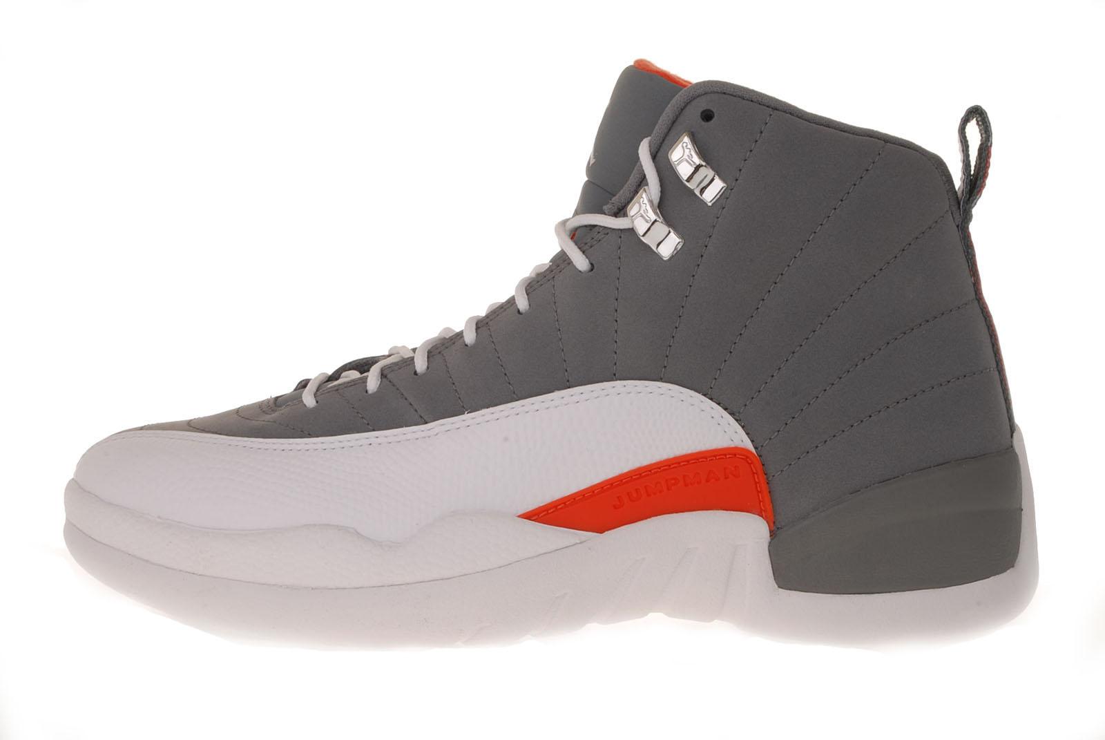 Nike Air Jordan 12 Retro XII Cool Grey White Team Orange ...