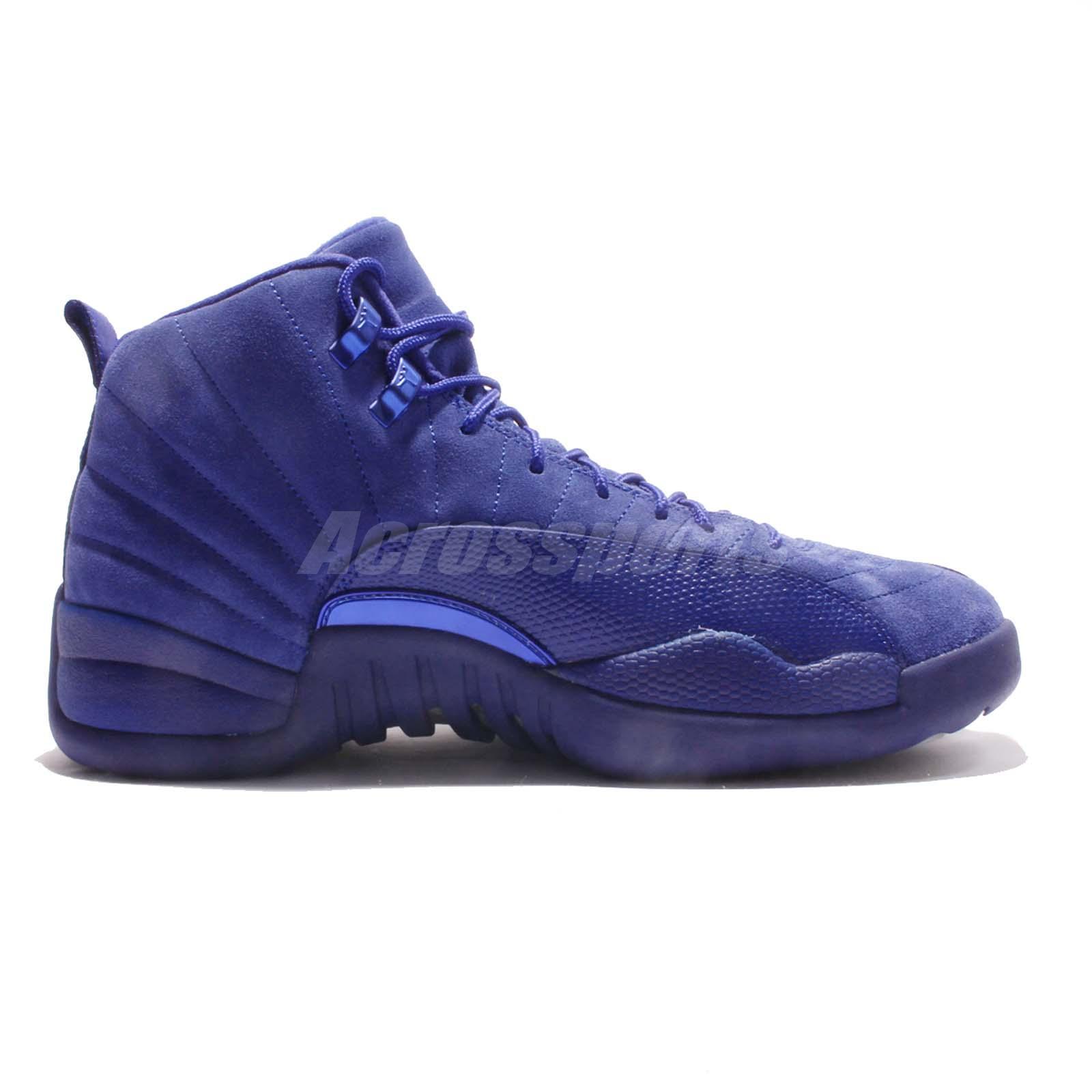 Deep Blue Men Basketball Shoes