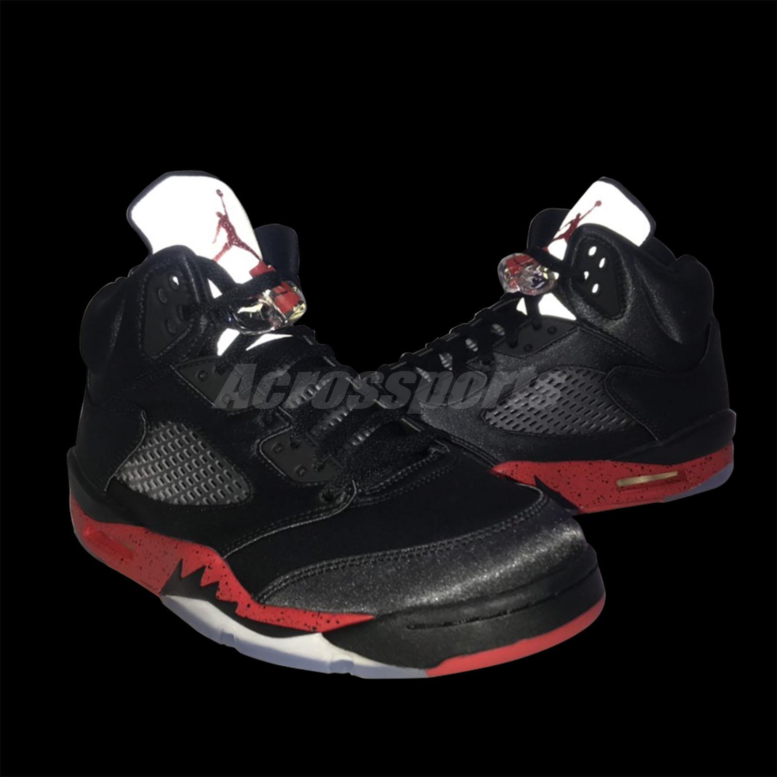 1d4e17de253ab7 Shoes Basketball Nike Air Jordan 5 Retro Satin Black University Red Bred V  AJ5 136027-006