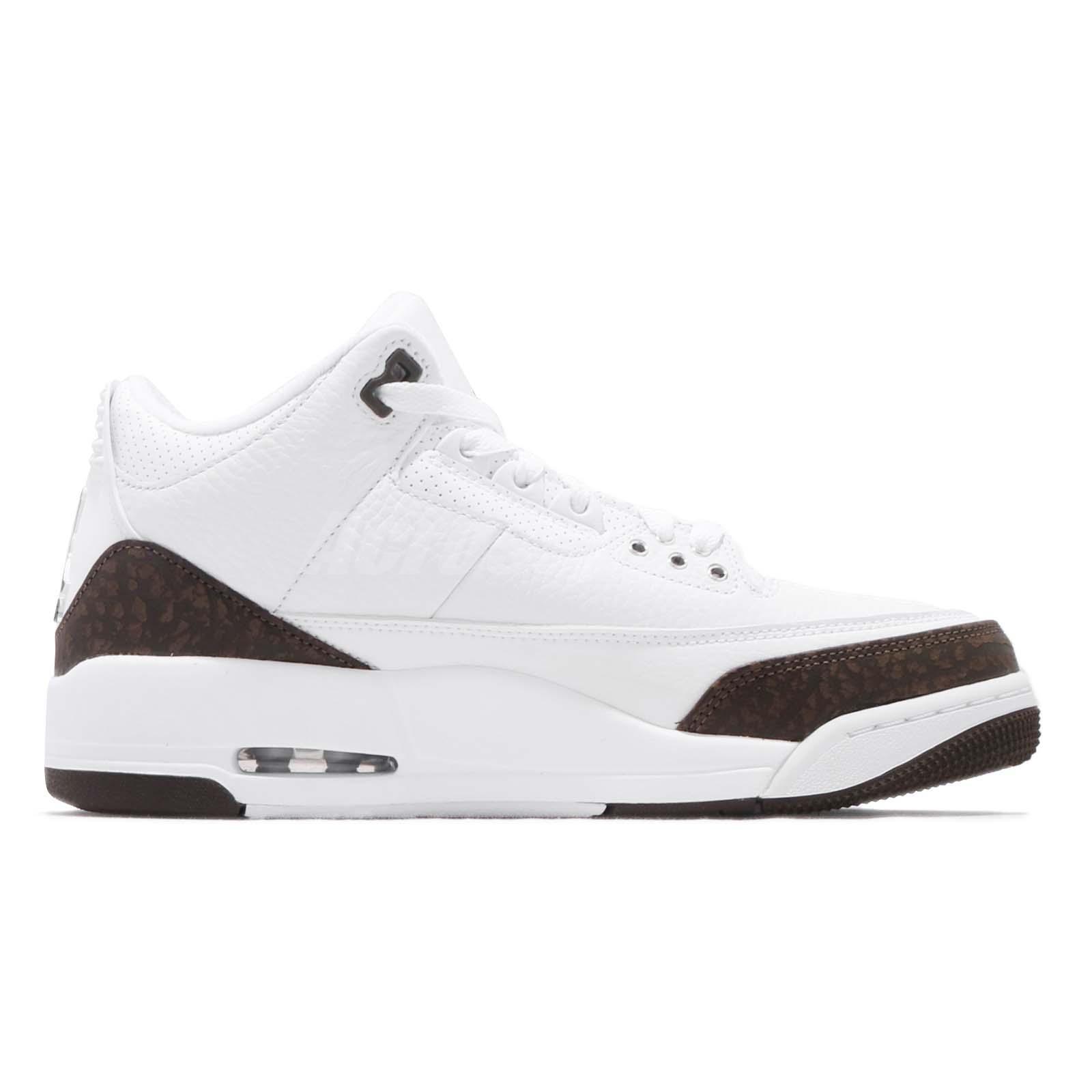 edfd8ea99f05 Nike Air Jordan 3 Retro Mocha 2018 III AJ3 White Men Basketball ...