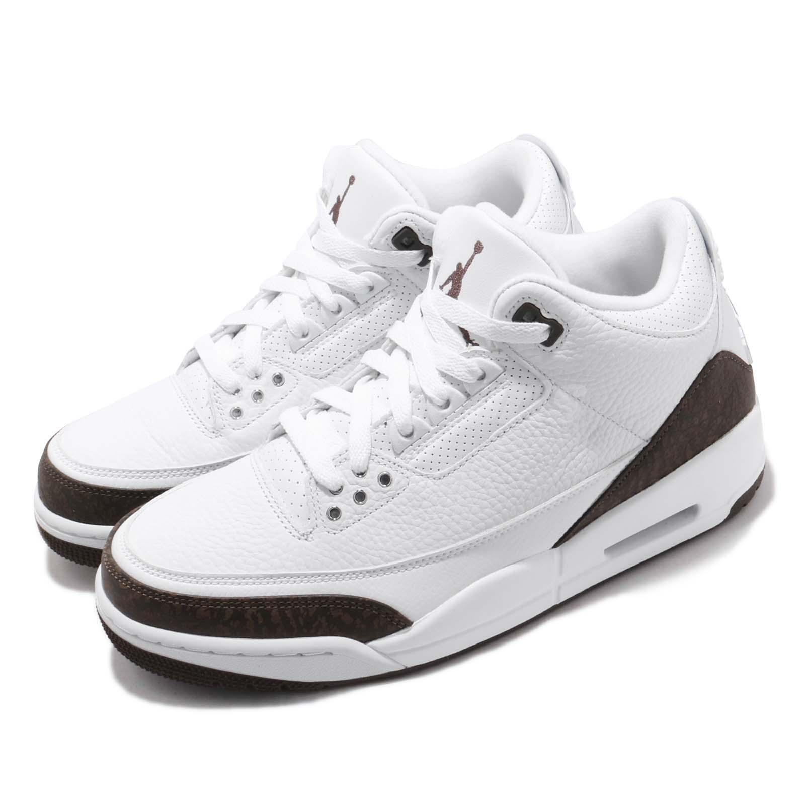 los angeles dab76 3f76b Details about Nike Air Jordan 3 Retro Mocha 2018 III AJ3 White Men  Basketball Shoes 136064-122