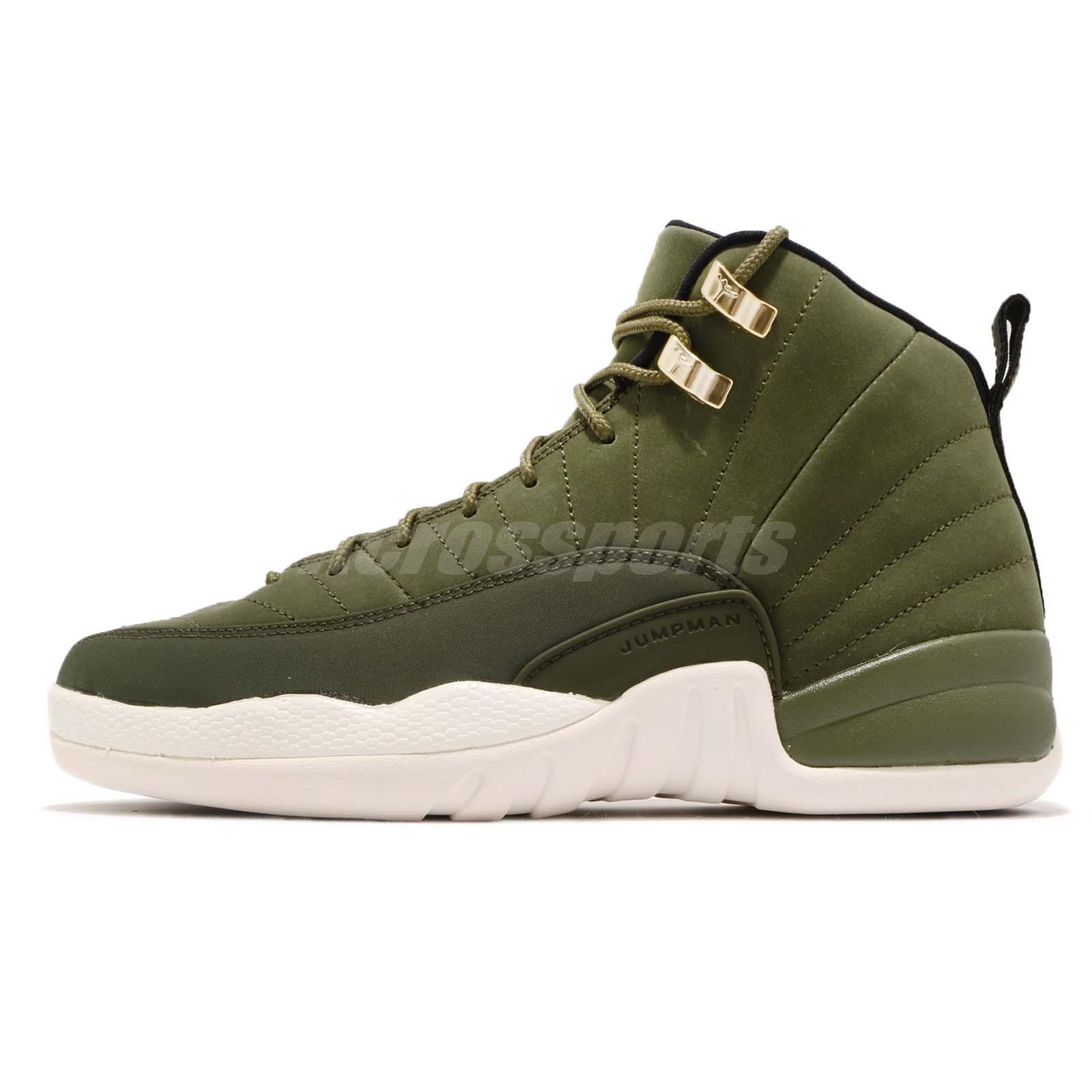 fdd67bc2279 Nike Air Jordan 12 Retro GS Chris Paul Class Of 2003 Olive Kids Women 153265 -301