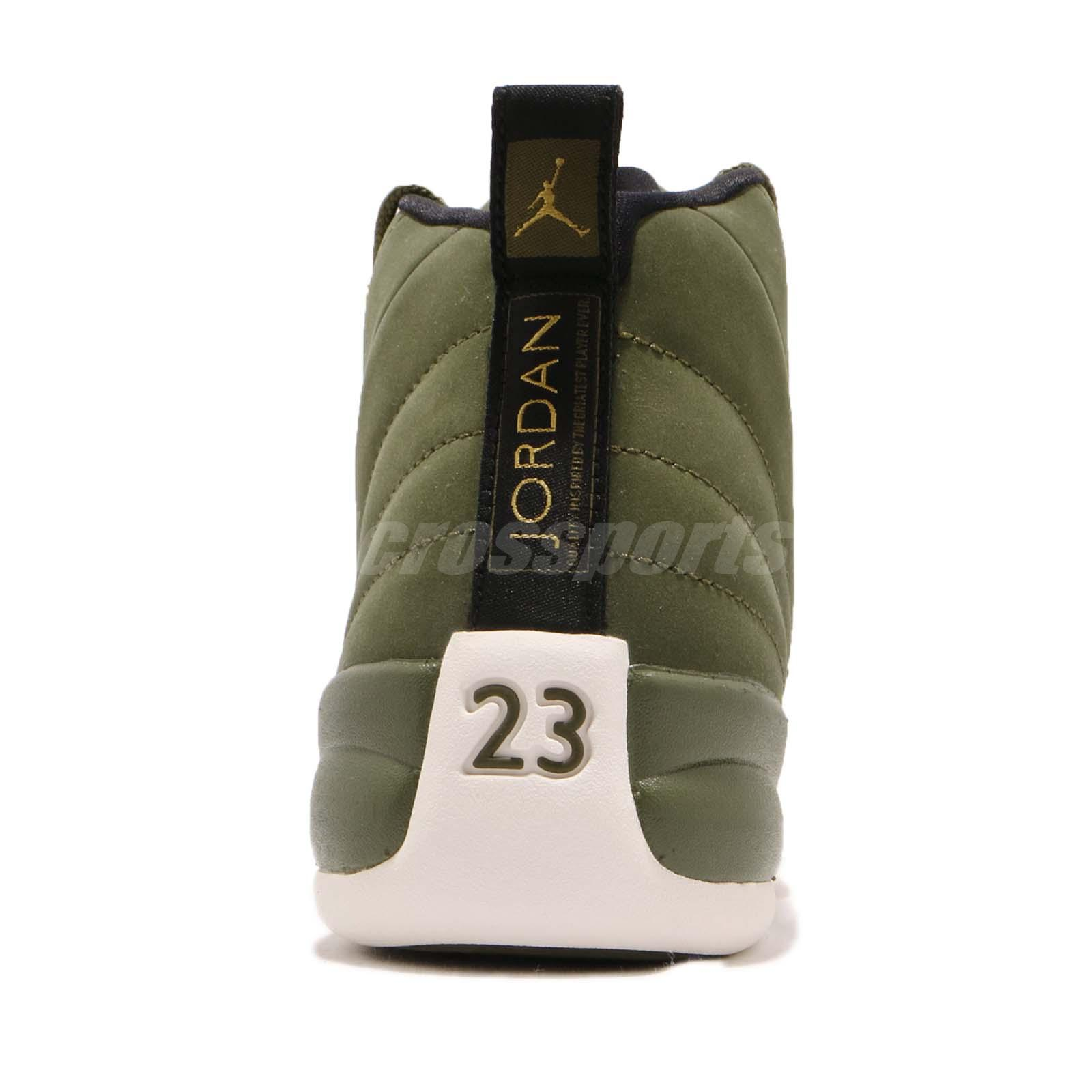 864a376ae0e Nike Air Jordan 12 Retro GS Chris Paul Class Of 2003 Olive Kids ...