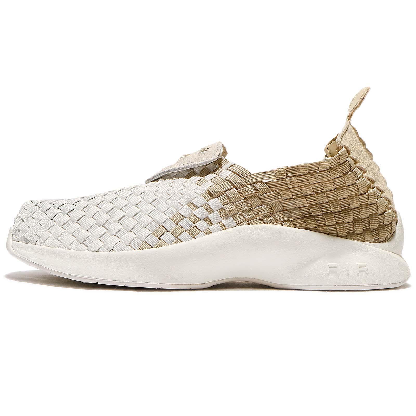 hot sale online 58e20 19852 Nike Wmns Air Woven Linen Light Bone Sail Women Casual Slip On Shoes 302350 -200