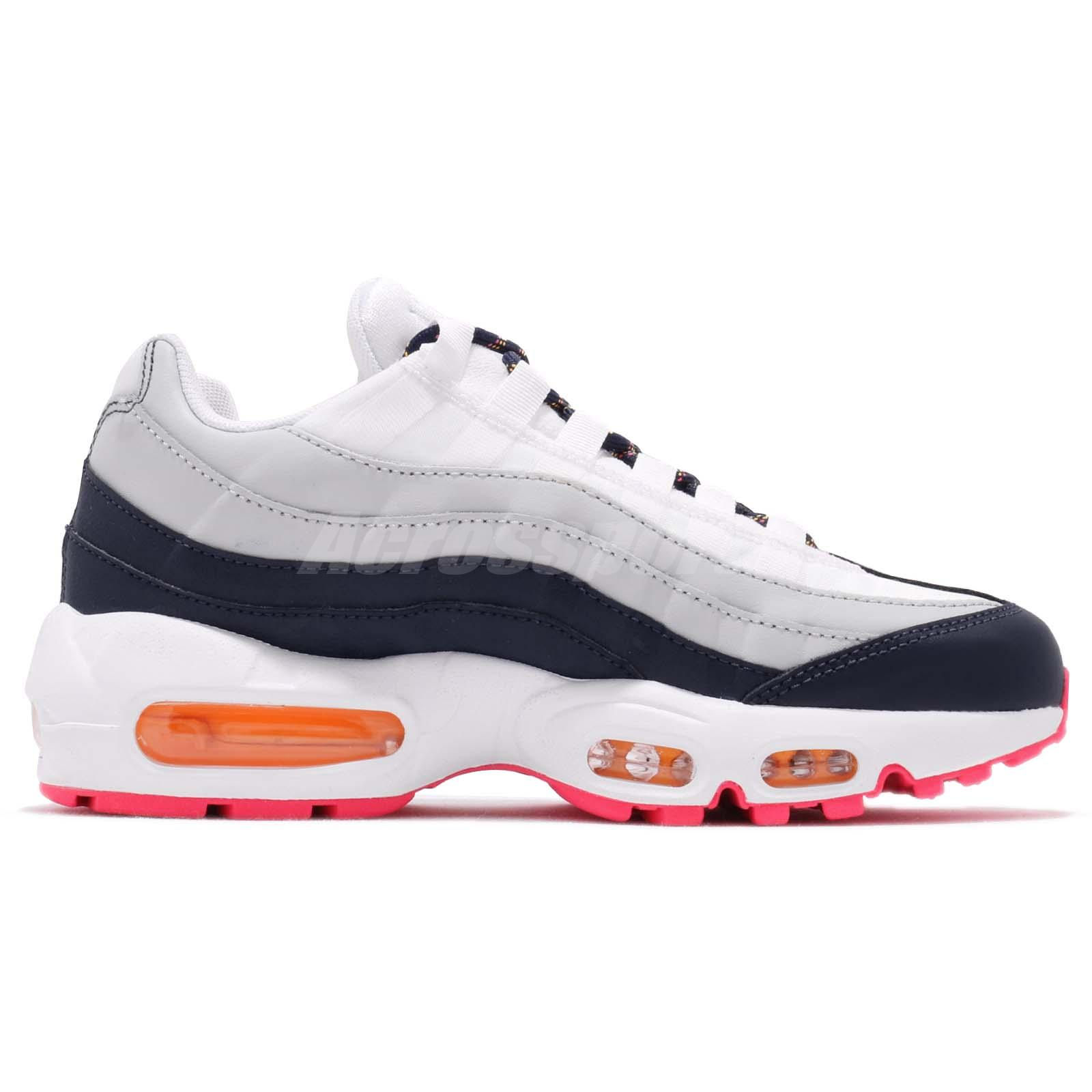 Nike Air Max 95 Premium Women's Shoe Philippines Midnight Navy Laser Orange Pure Platinum
