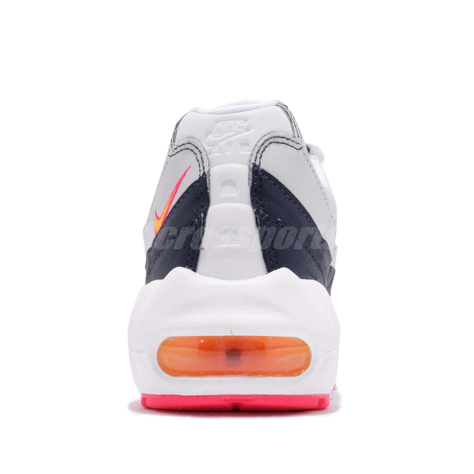 bf77572c7c Nike Wmns Air Max 95 White Navy Orange Womens Running Shoes Sneakers ...