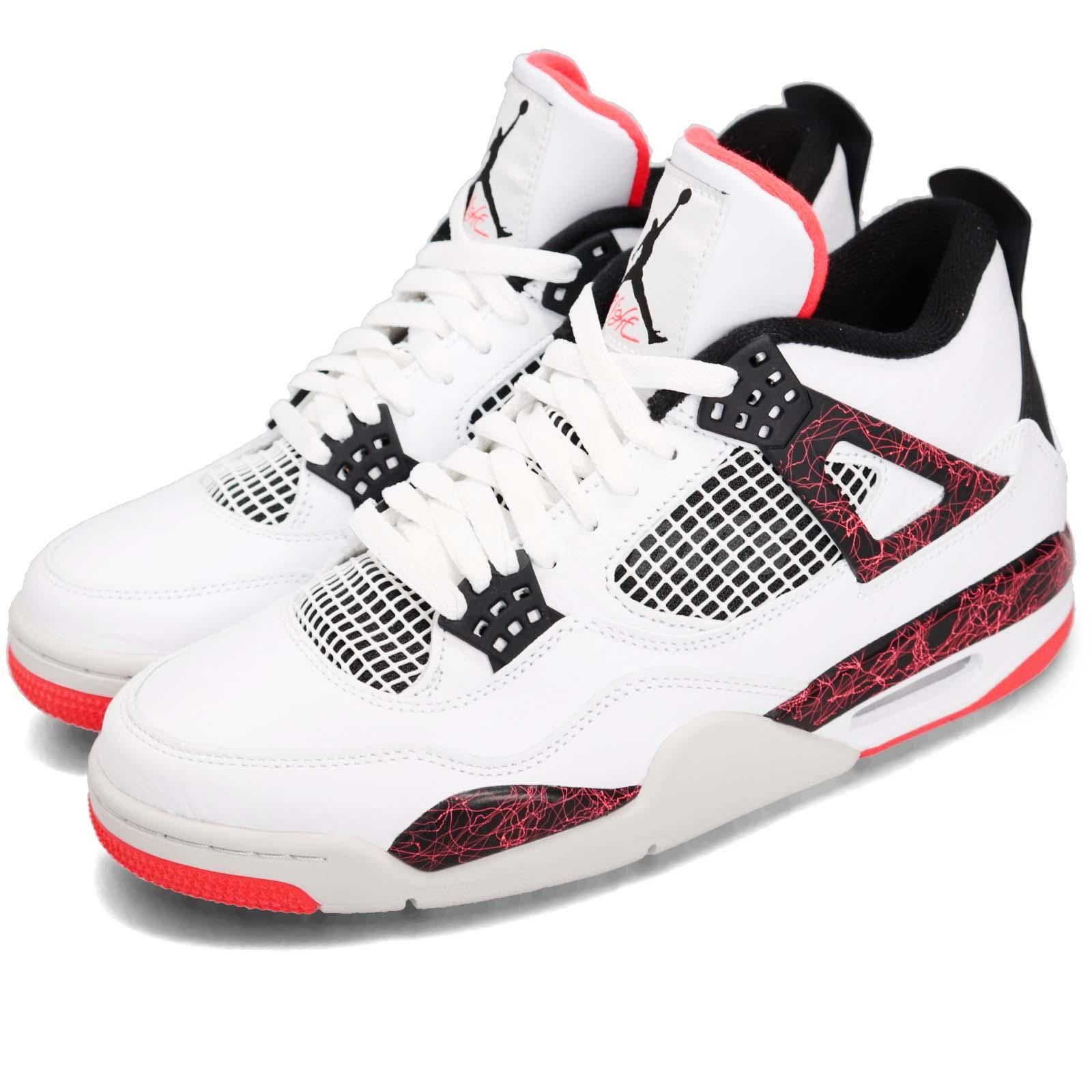 f33a2993e8c8b6 Details about Nike Air Jordan 4 Retro IV Bright Crimson Pale Citron Hot Lava  AJ4 308497-116