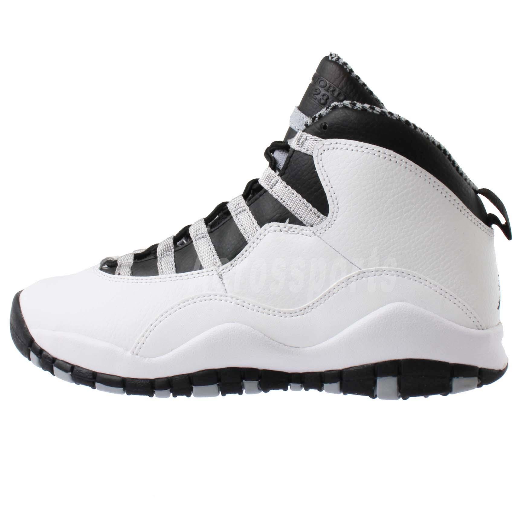 "Nike Air Jordan 10 Retro GS X "" Steel "" Kids Girls Youth ..."