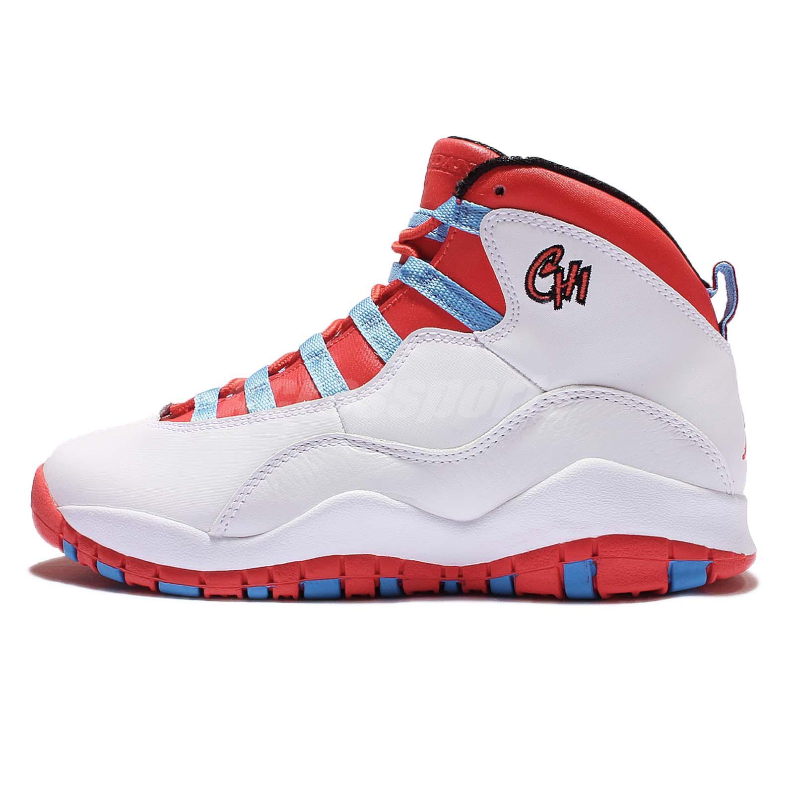 best service e4cb0 d4056 ... Nike Air Jordan 10 Retro GS AJ10 Chicago City Pack White Size 4Y - 7Y  310806 .