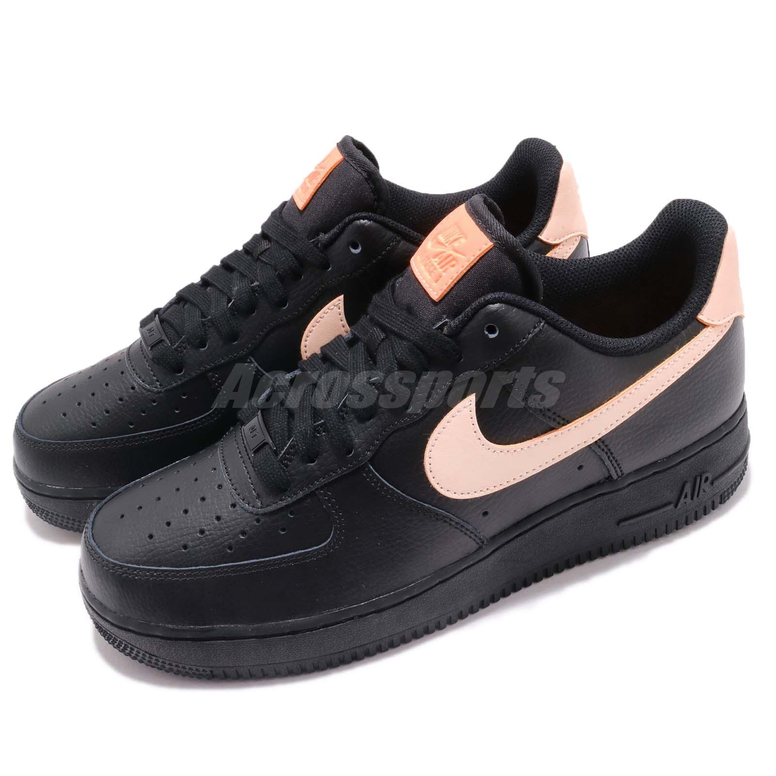 size 40 7b75d db158 Details about Nike Wmns Air Force 1 07 LE AF1 Black Crimson Tint Women  Casual Shoes 315115-039