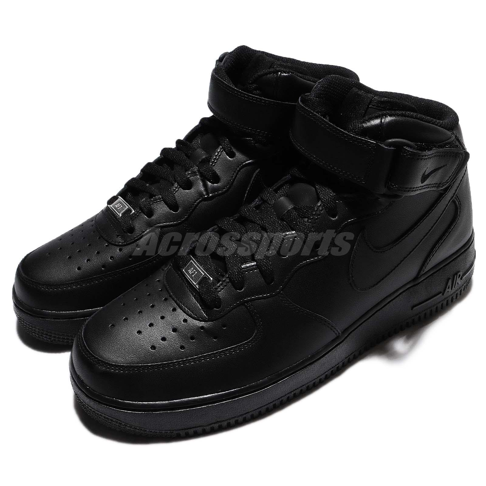 97d179f2f2f6 Details about Nike Air Force 1 Mid 07 Black Mens Classic AF1 Shoes Sneakers  315123-001