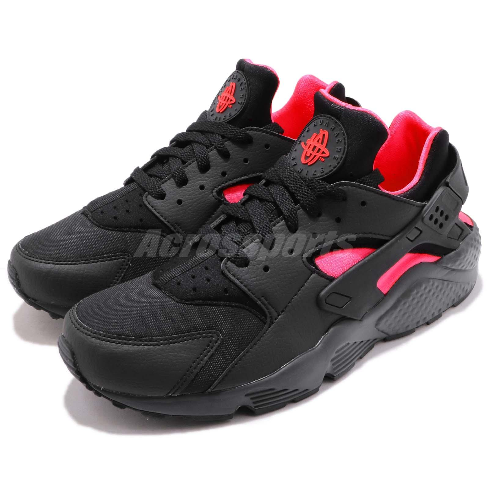 separation shoes 7b207 c6f92 Details about Nike Air Huarache Black Solar Red Men Running Casual Shoes  Sneakers 318429-055