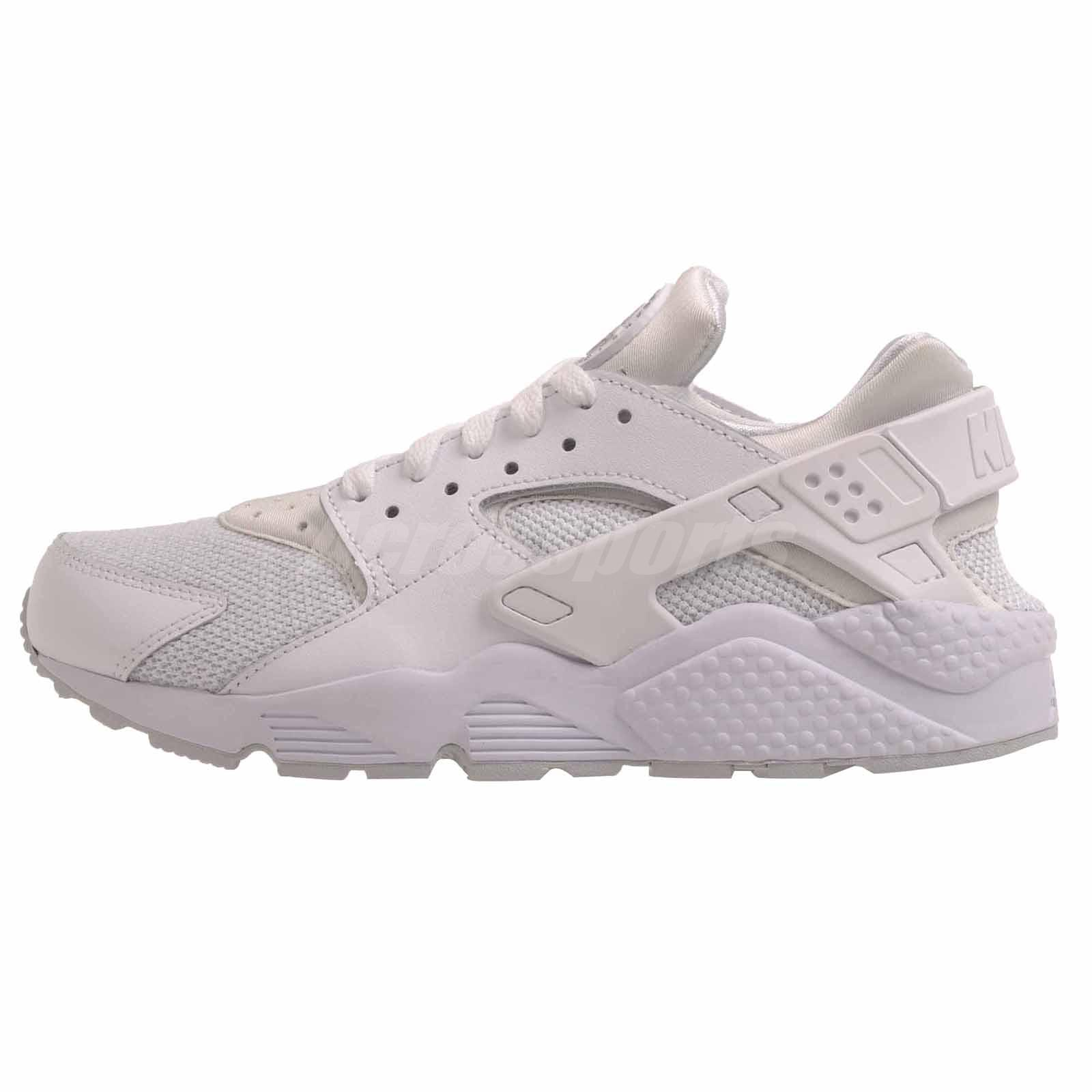 Nike Air Huarache Running Mens Shoes White Platinum 318429-109